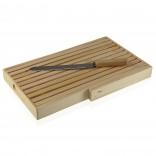 Bamboo Cutting Board with Crumb Tray & Knife - Versa