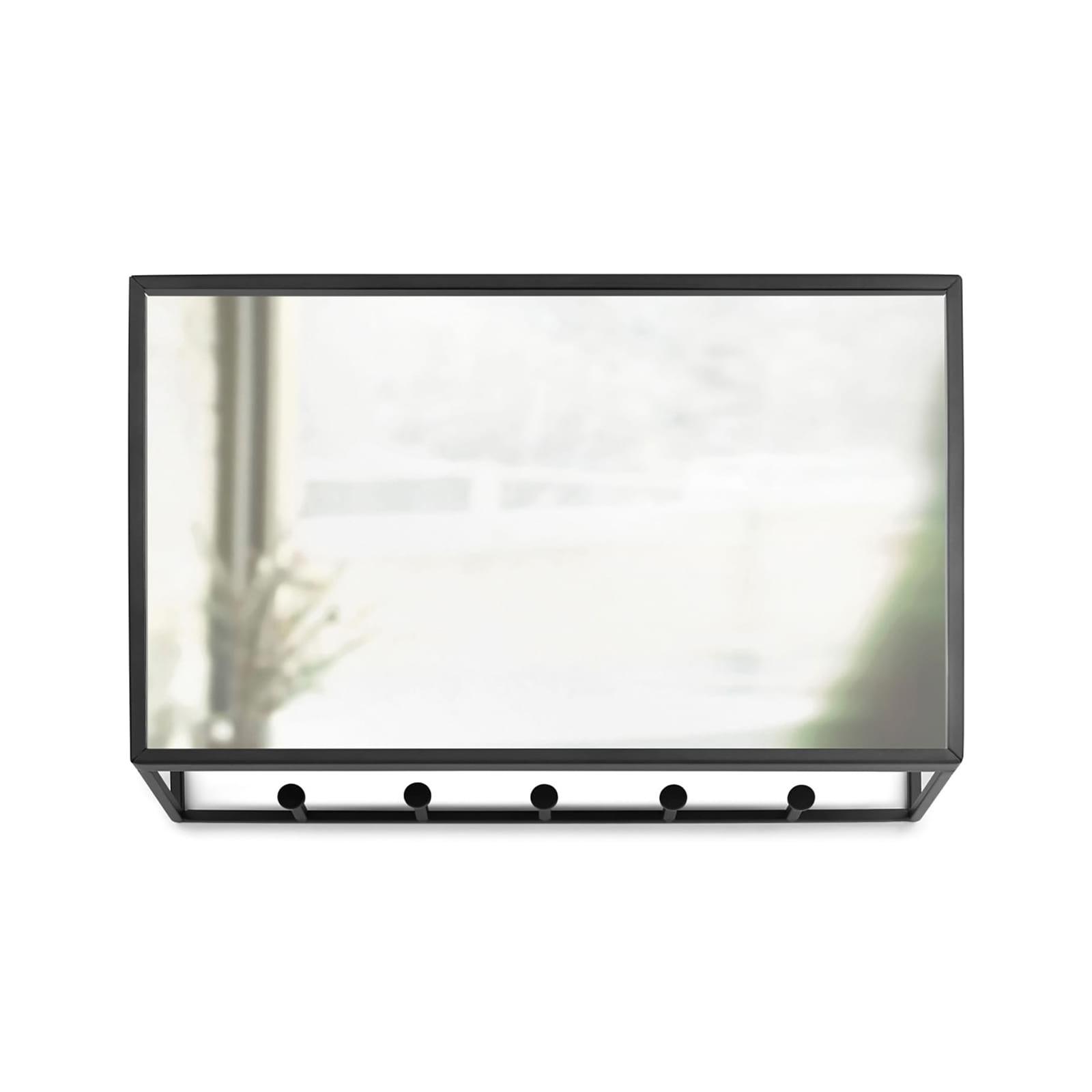 Cubiko Wall Mirror and Storage Unit (Black) - Umbra