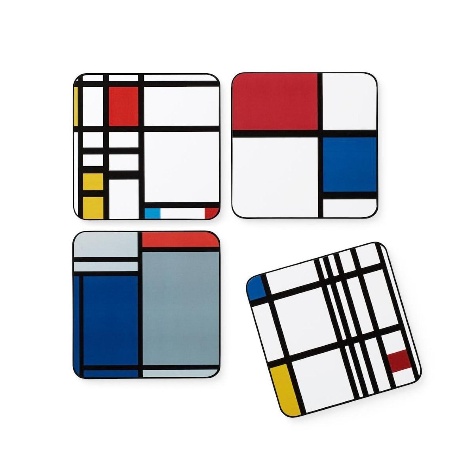 Mondrian Coasters (set of 4) - MoMA