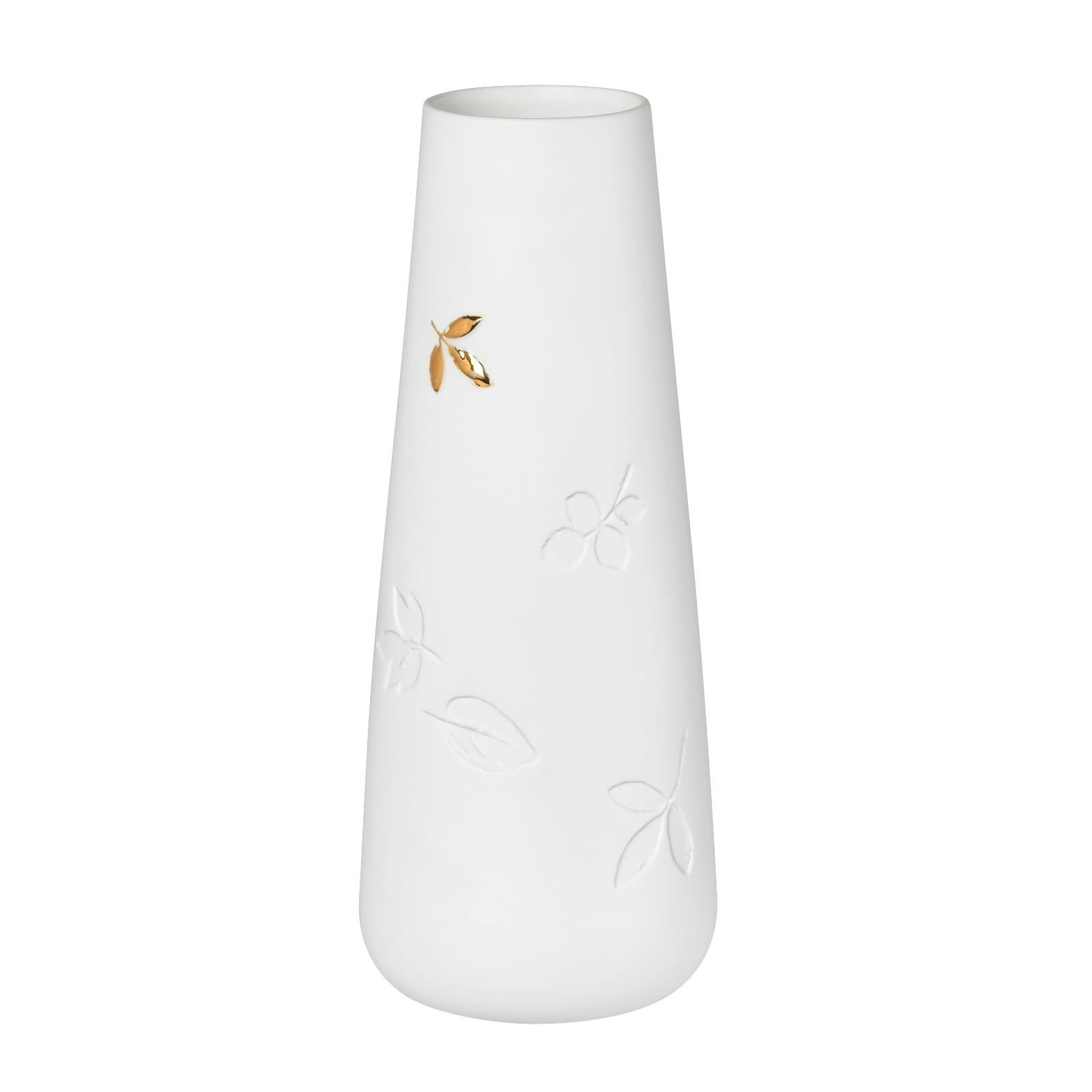 Golden Leaf Porcelain Vase (Small) - Raeder
