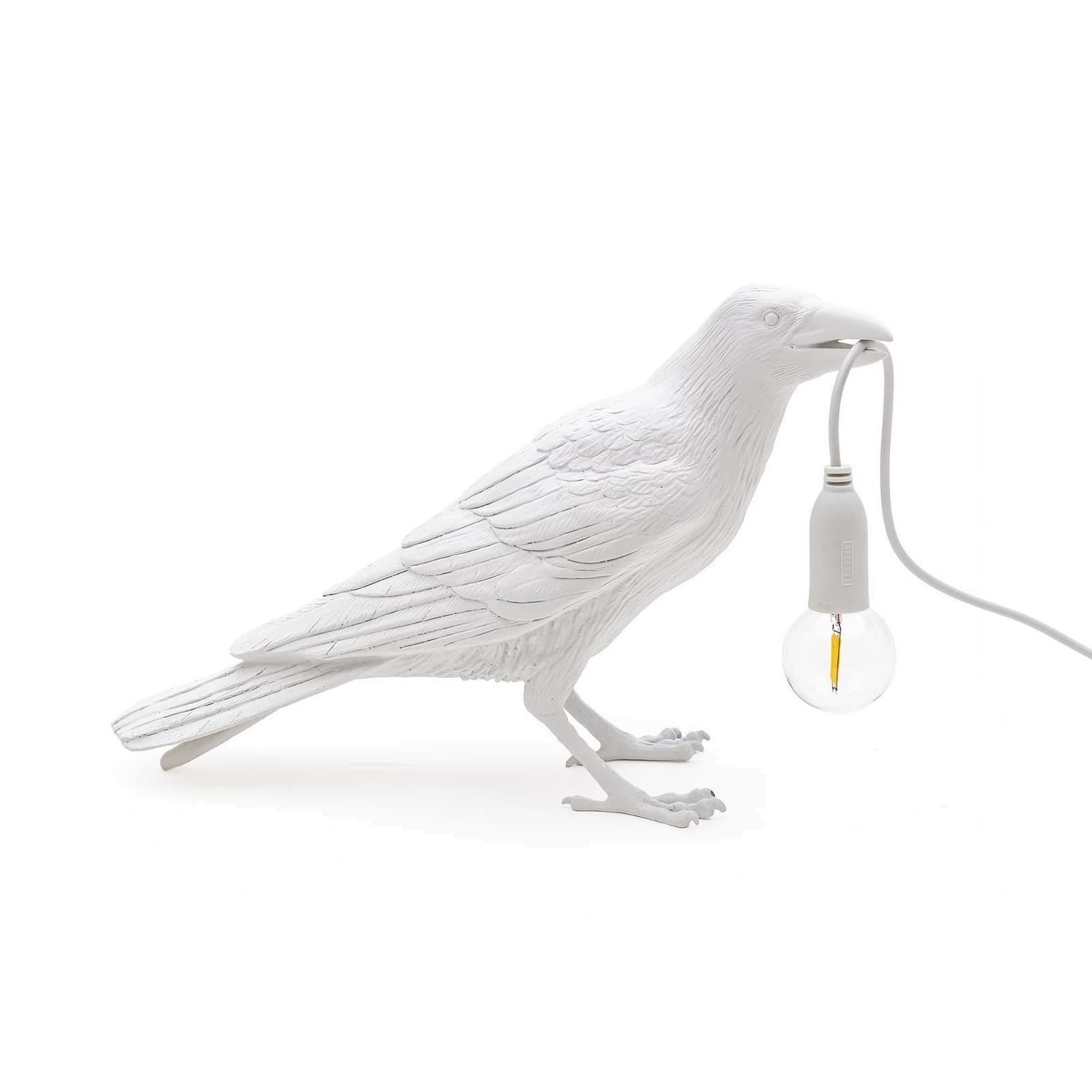 Bird Waiting Lamp (White) - Seletti