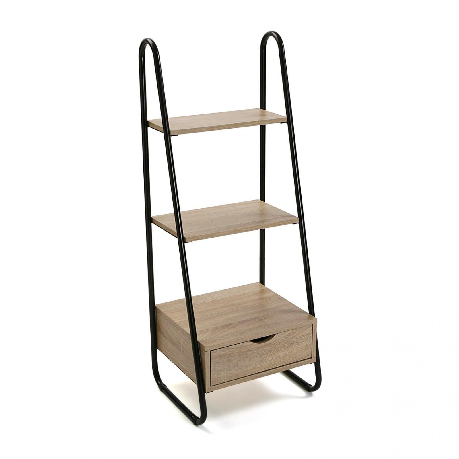 3-Tier Wooden Storage Rack (Black / Natural) - Versa