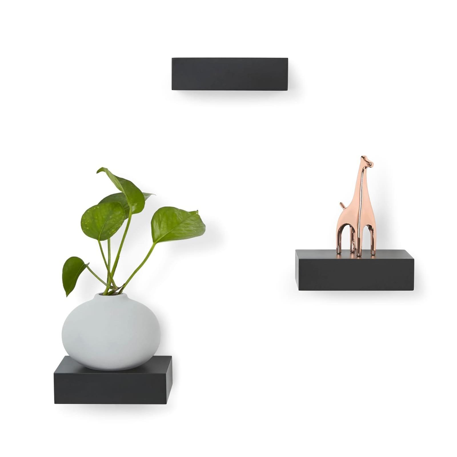 Showcase Shelves Set of 3 (Black) - Umbra