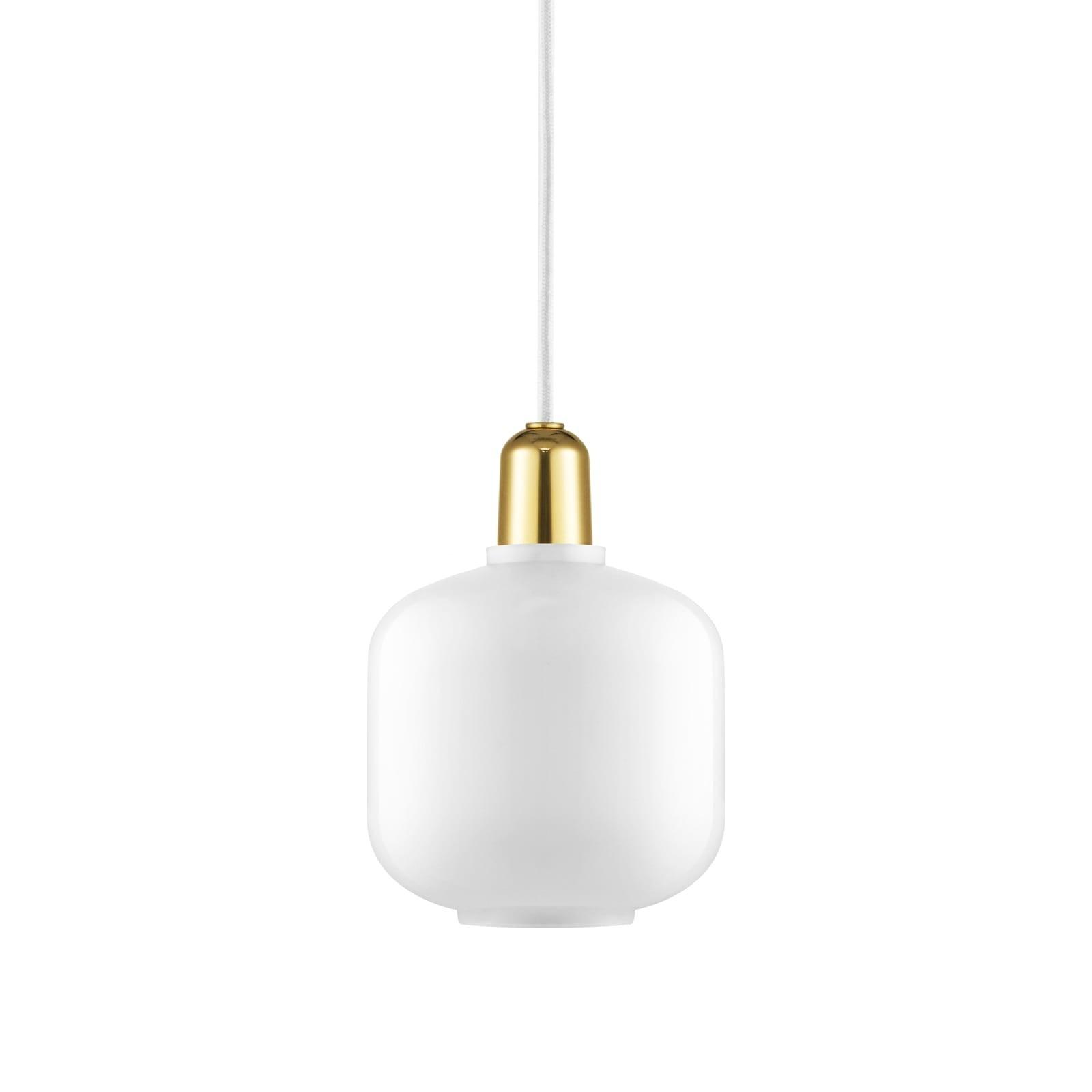 Amp Lamp Small (White / Brass) - Normann Copenhagen