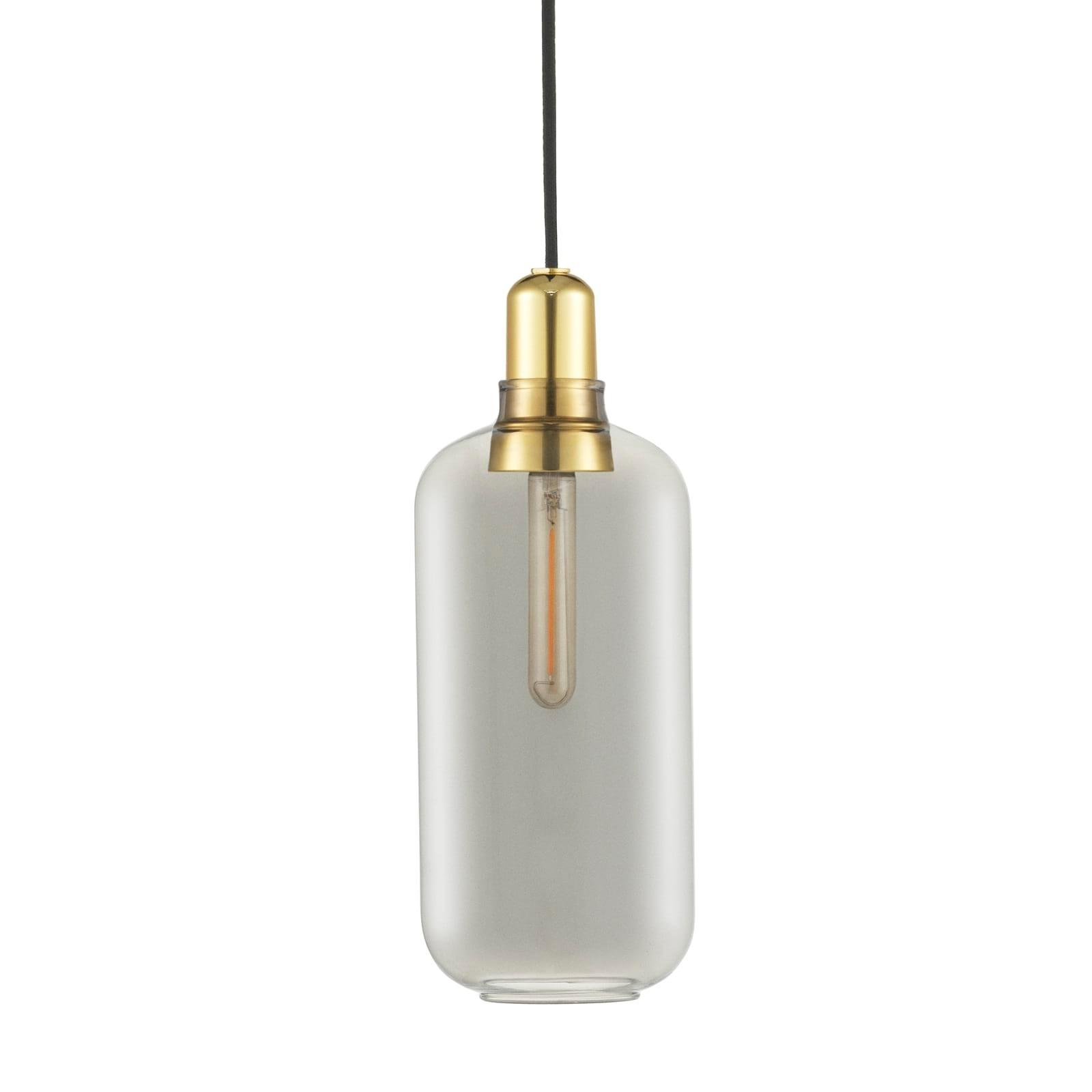 Amp Lamp Large (Smoke / Brass) - Normann Copenhagen