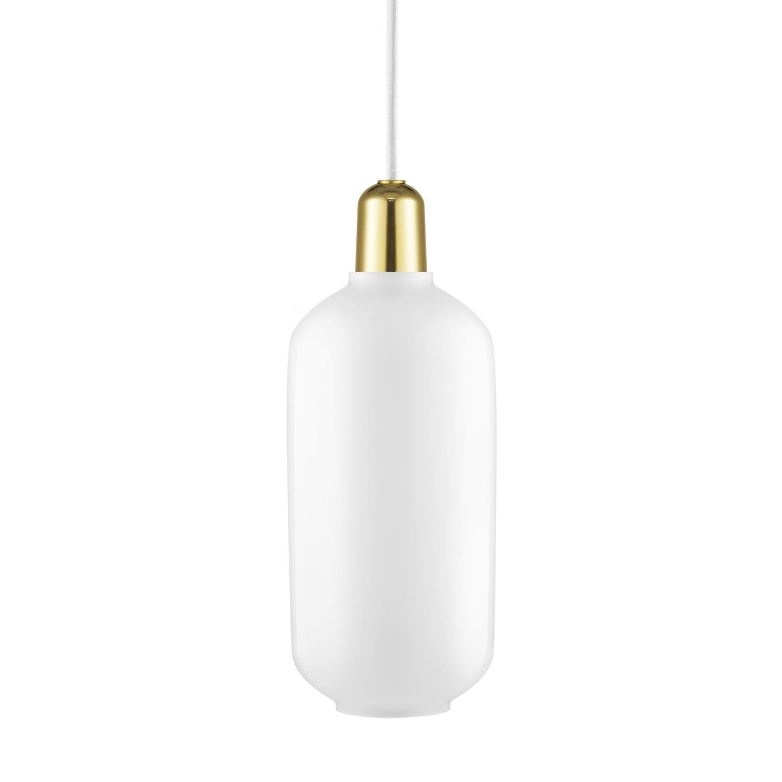 Amp Lamp Large (White / Brass) - Normann Copenhagen