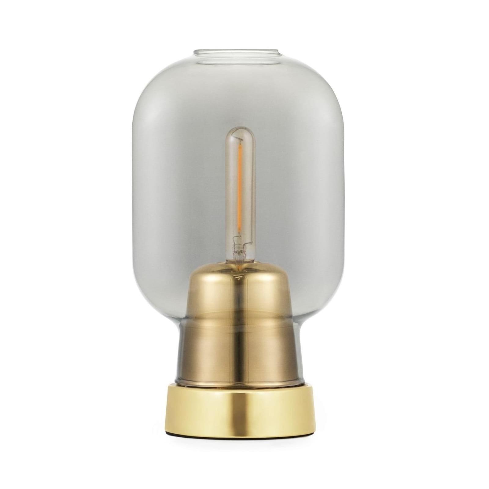 Amp Table Lamp (Smoke / Brass) - Normann Copenhagen