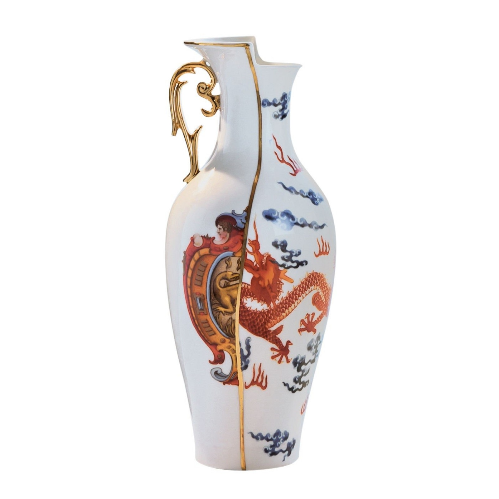 Adelma Vase Bone China Hybrid Collection - Seletti