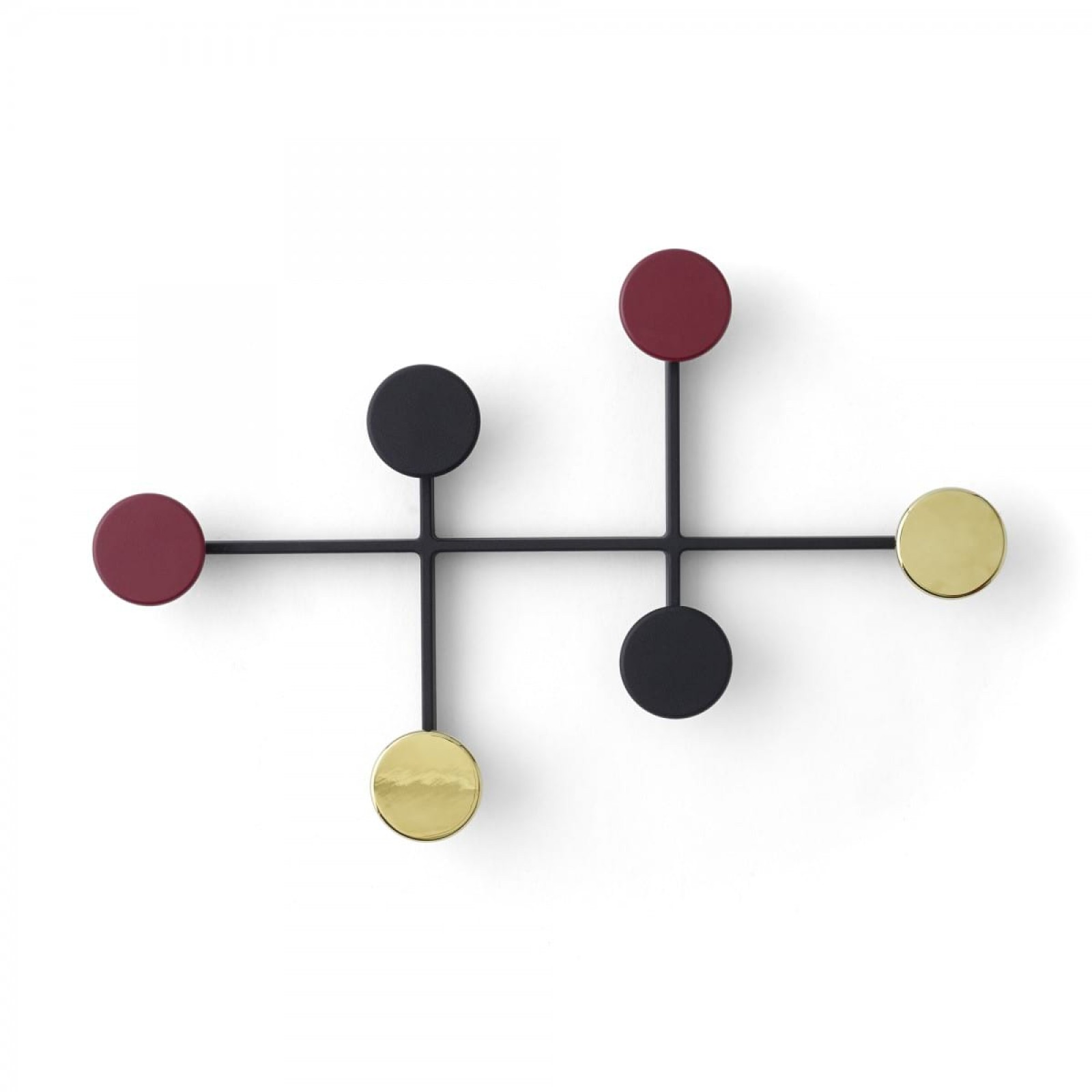 Afteroom Coat Hanger (Black / Brass) - Menu