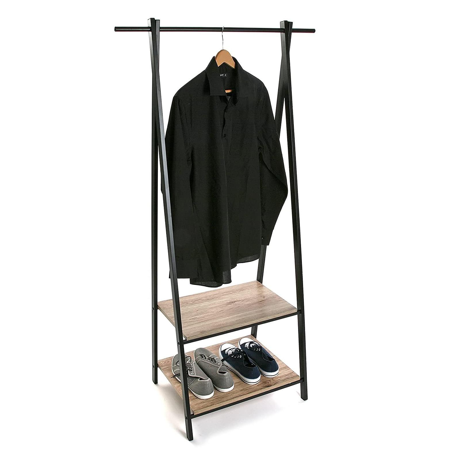 ALZ Coat Rack with Shelves (Metal / Wood) - Versa