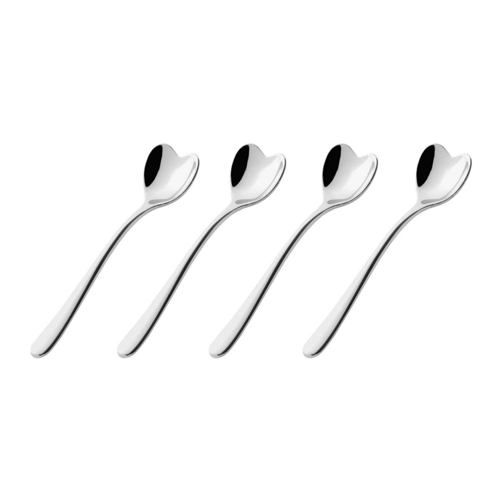 Set of 4 Heart Shaped Coffee Spoons by Miriam Mirri (Stainless Steel) - Alessi