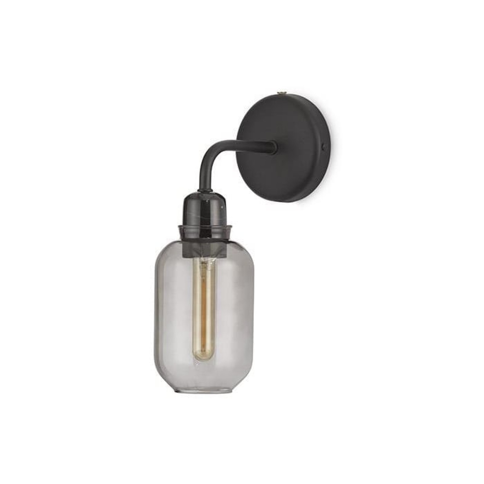 Amp Wall Lamp (Smoke / Black) - Normann Copenhagen