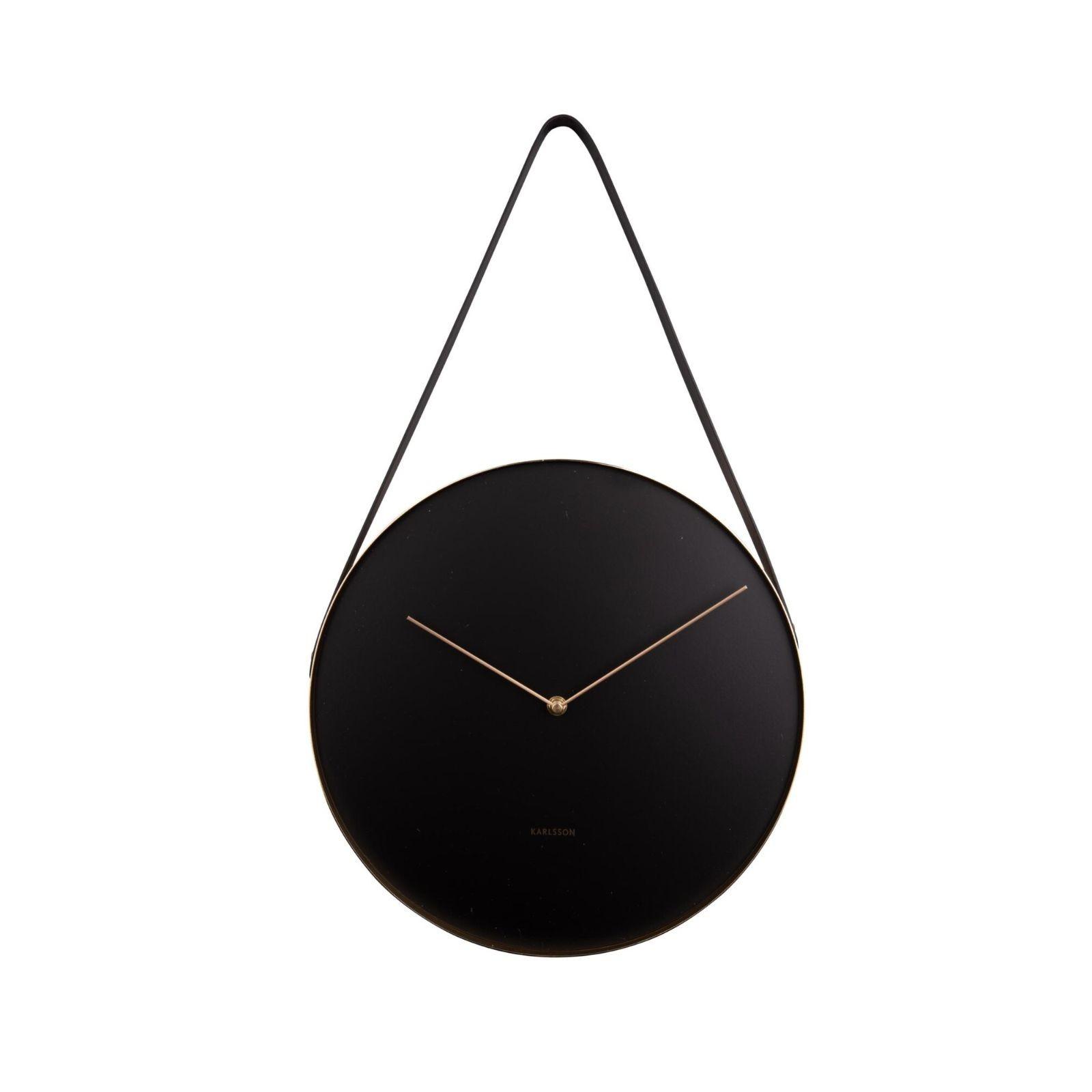 Belt Wall Clock (Black) - Karlsson