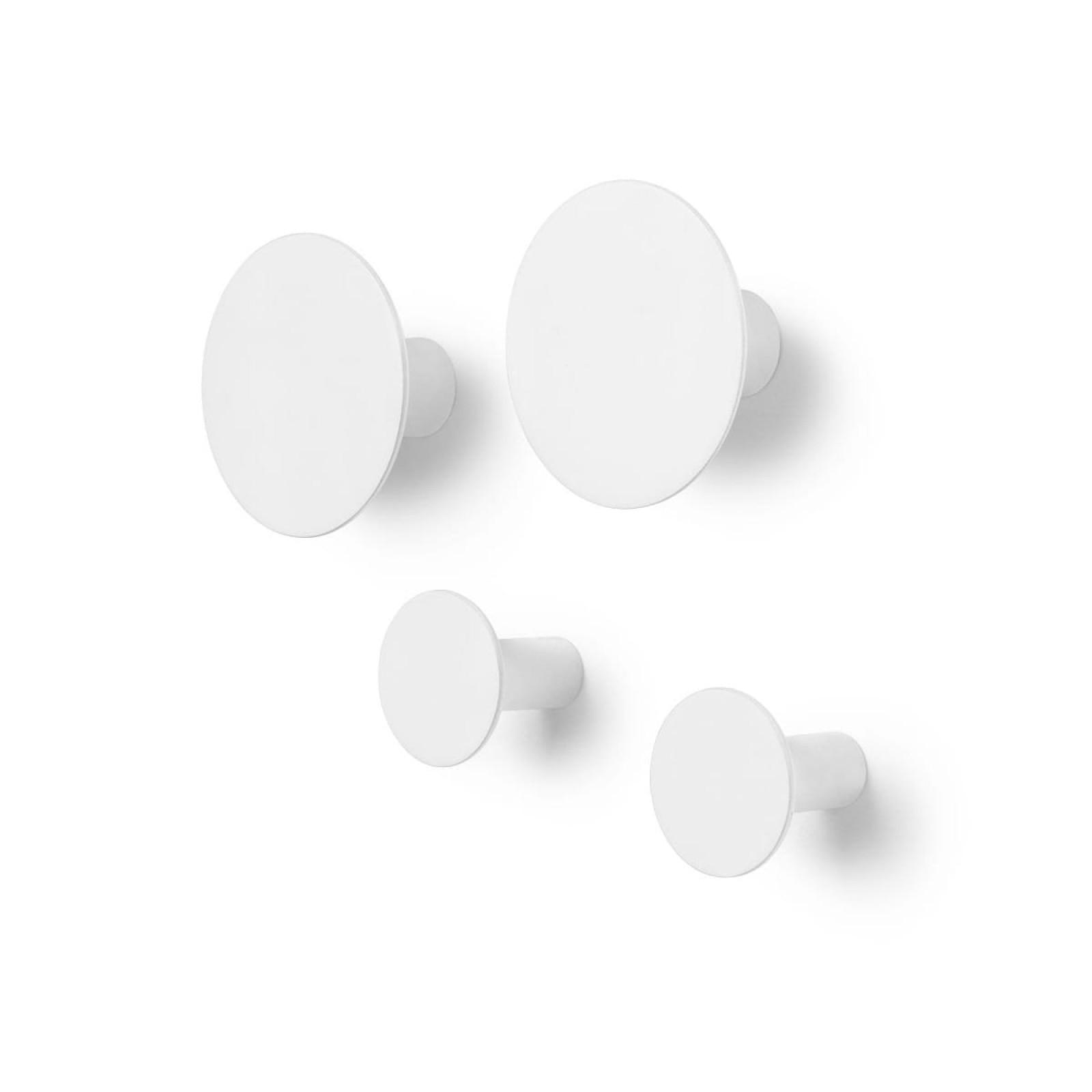 Ponto Set of 4 Wall Hooks (Lily white) - Blomus