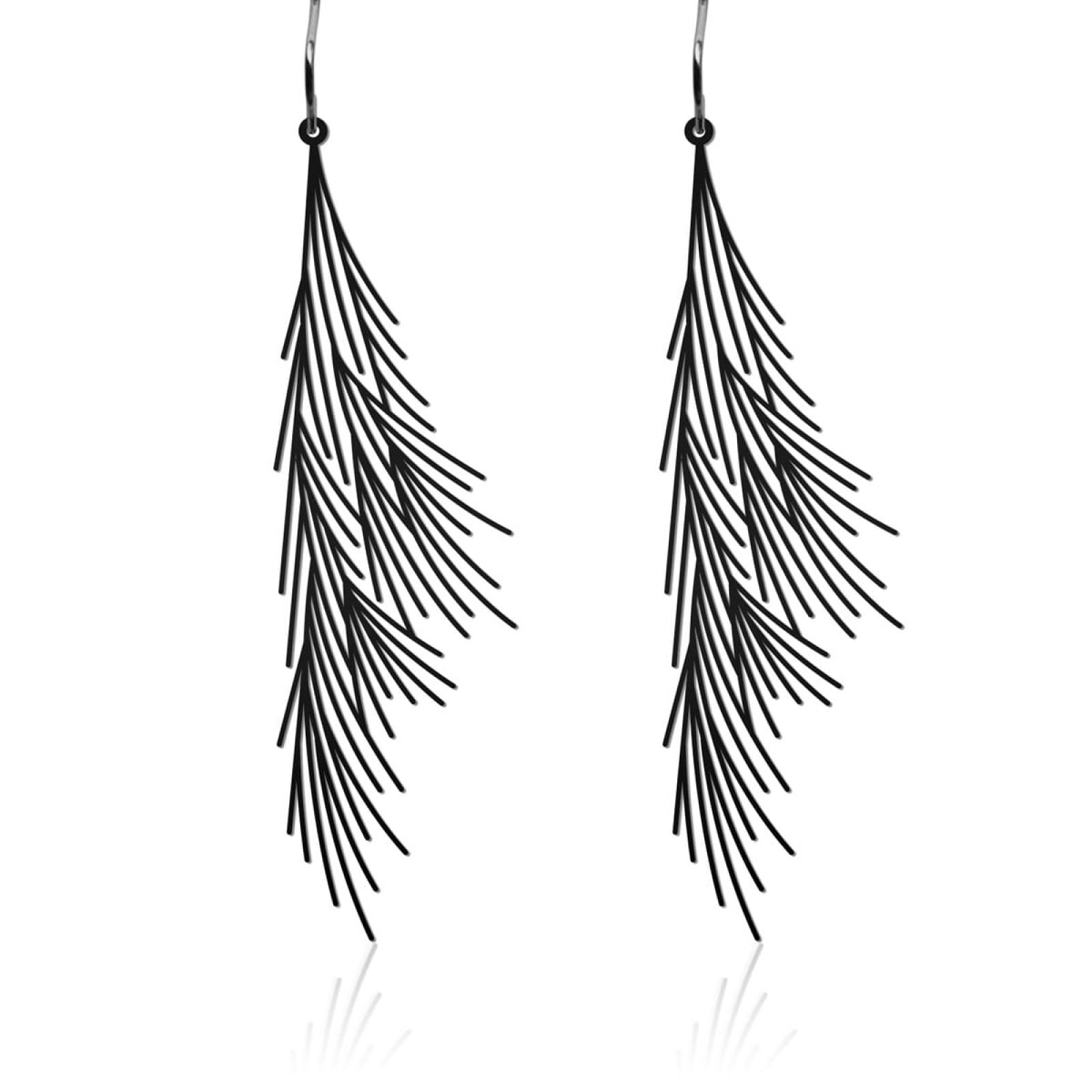 Common Reed Earrings M (Black) - Moorigin
