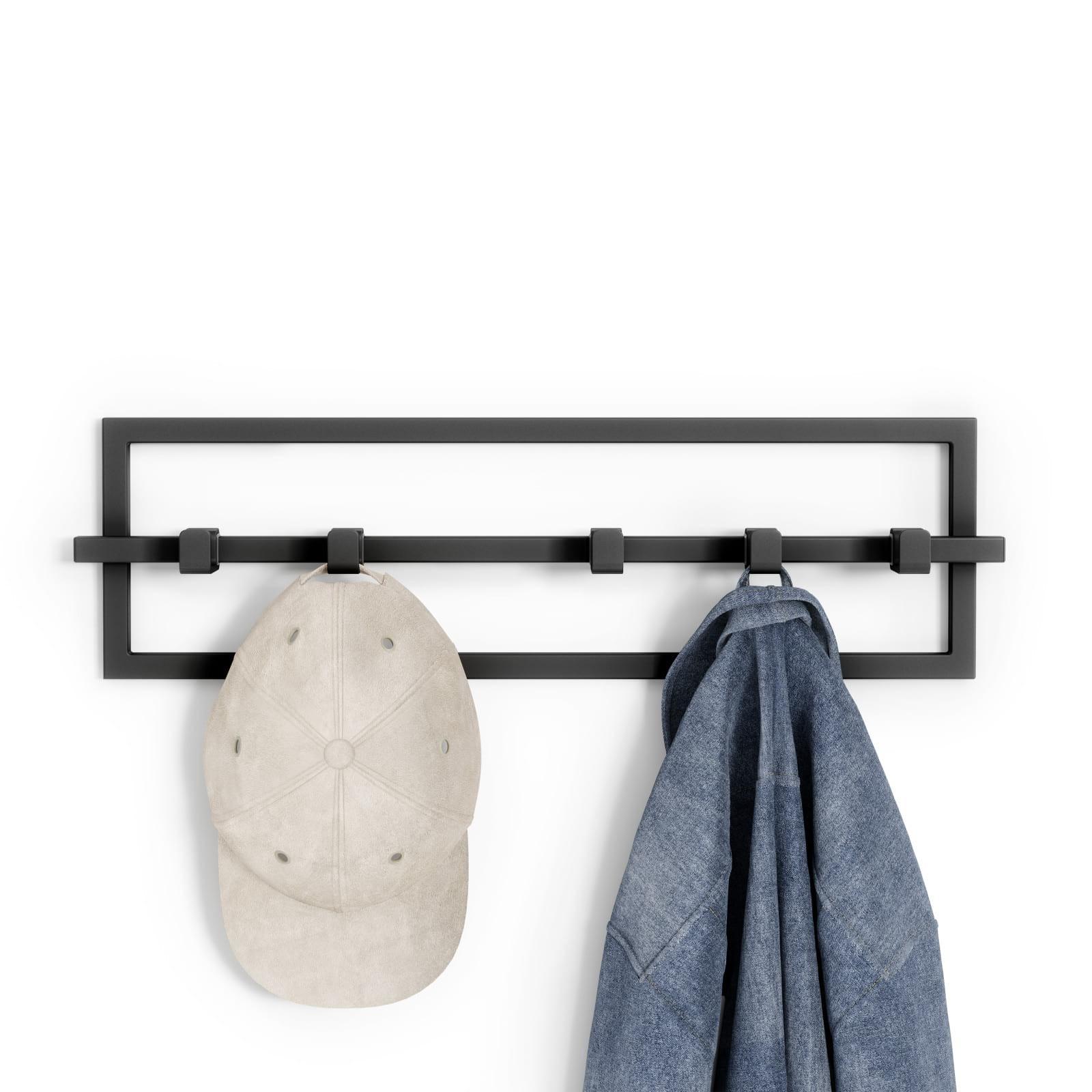 Cubiko 5 Hook Coat Rack (Black) - Umbra