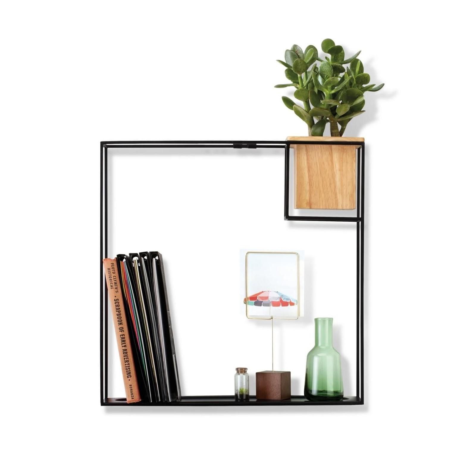Cubist Large Wall Shelf (Black) - Umbra