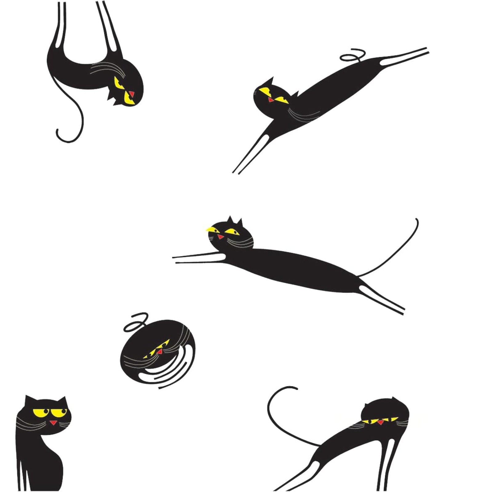 Catenkit Black Wall Sticker - Domestic