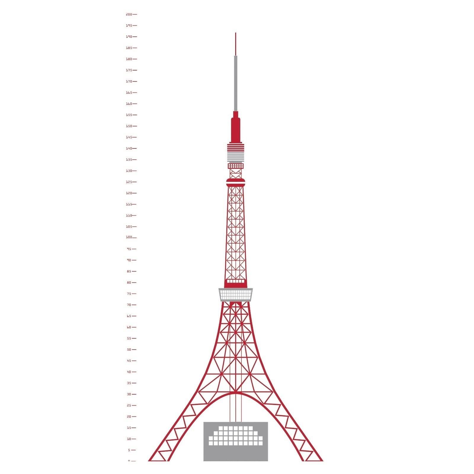 Measuring Souvenir Tokyo Wall Sticker - Domestic
