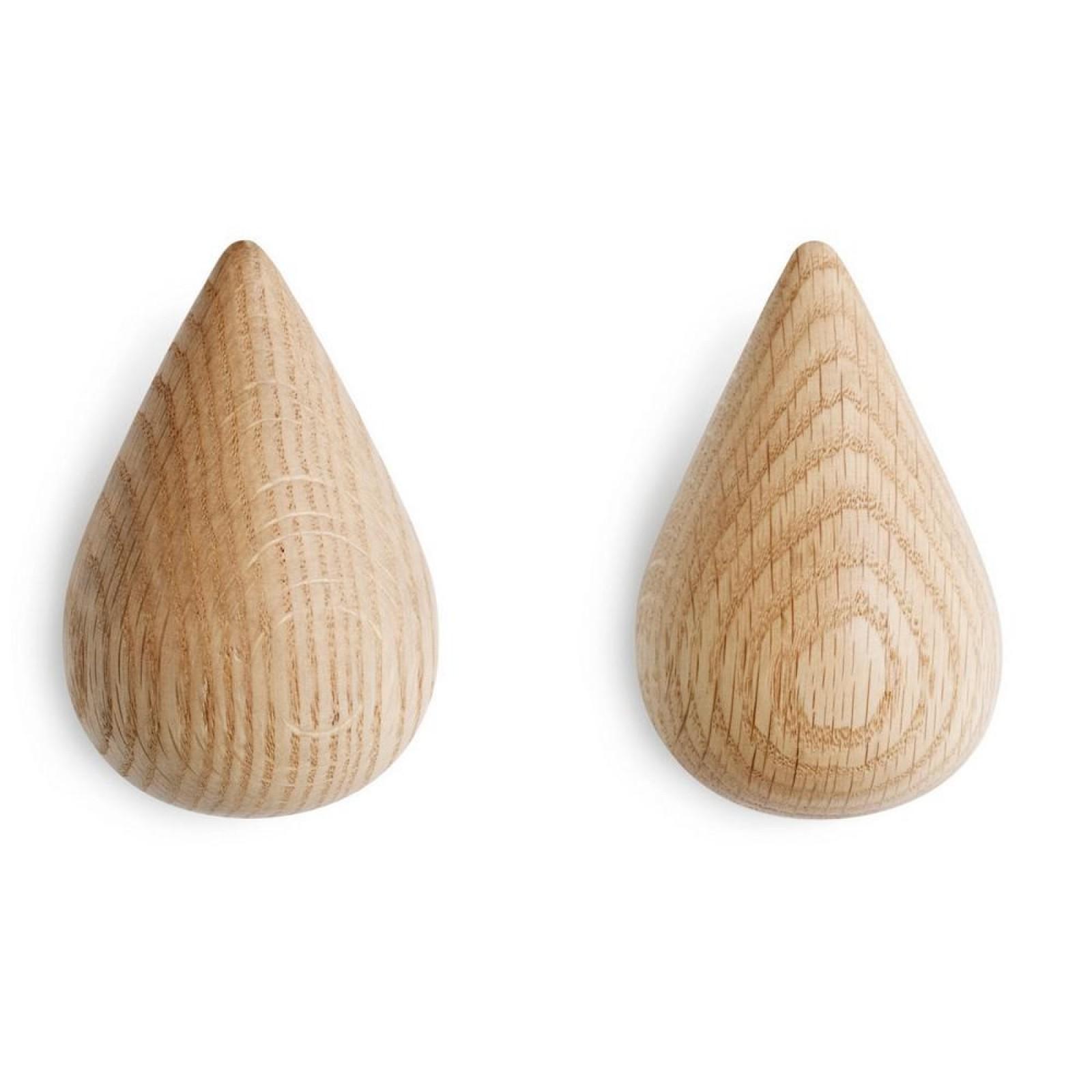 Dropit Large Hook Set of 2 (Natural Wood) - Normann Copenhagen