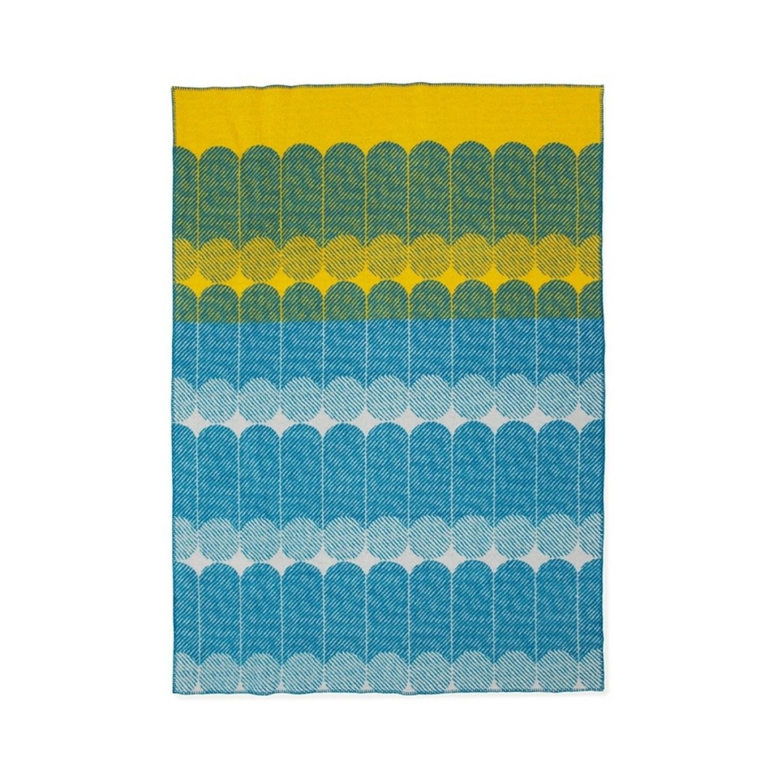 Ekko Throw Blanket (Yellow & Dusty Blue) - Normann Copenhagen
