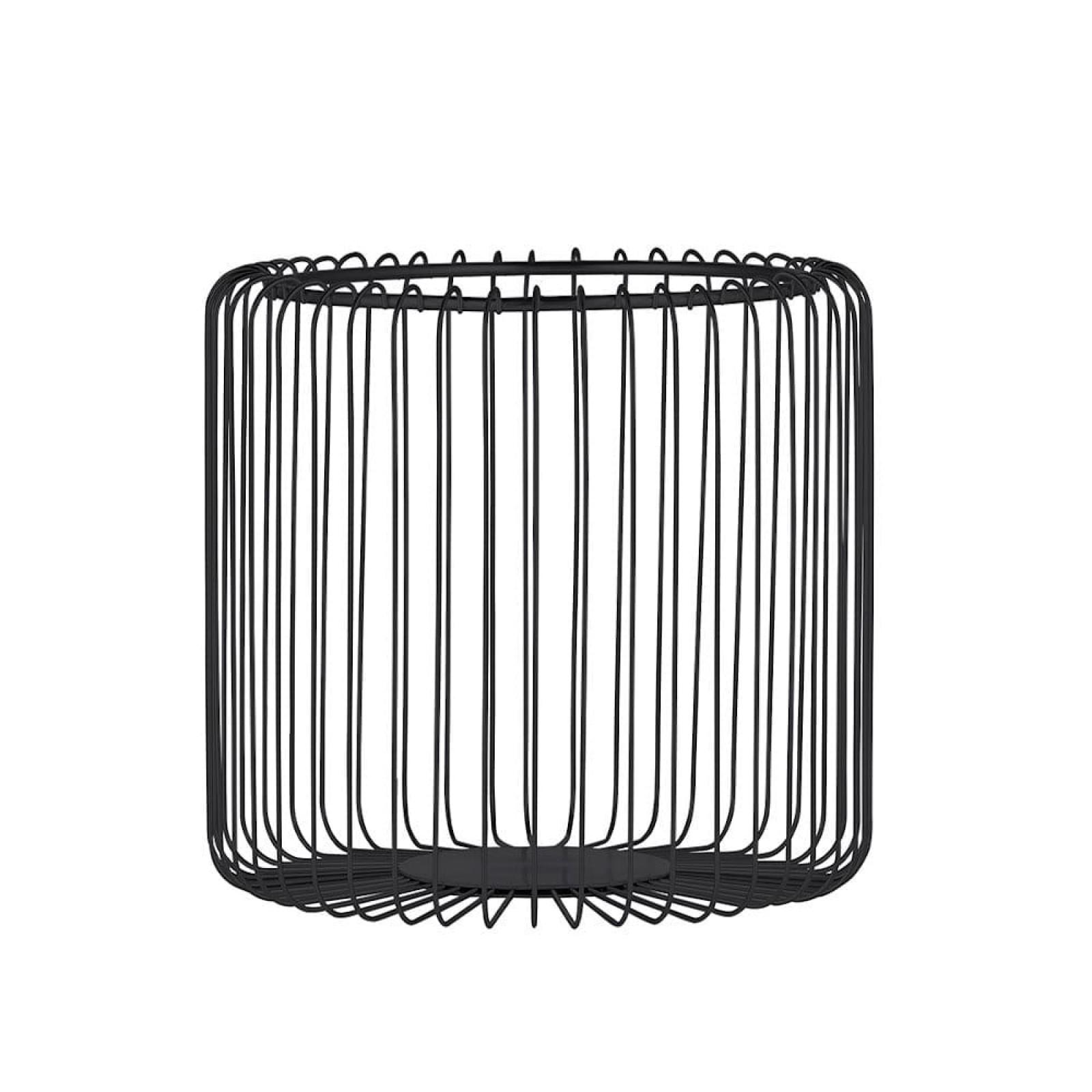 Estra Wire Basket / Fruit Bowl L (Black) - Blomus
