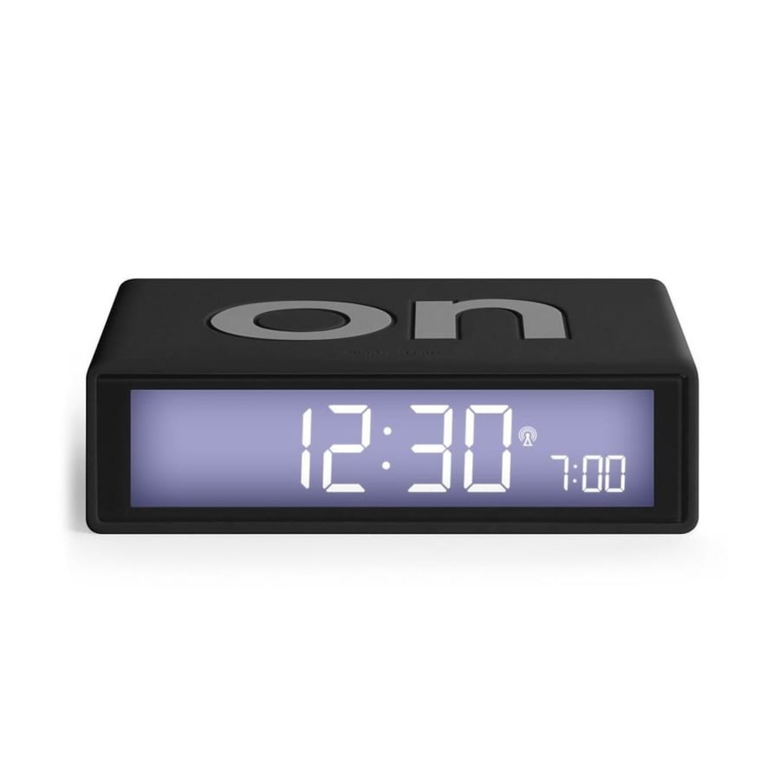 Flip + LCD Alarm Clock Black - LEXON