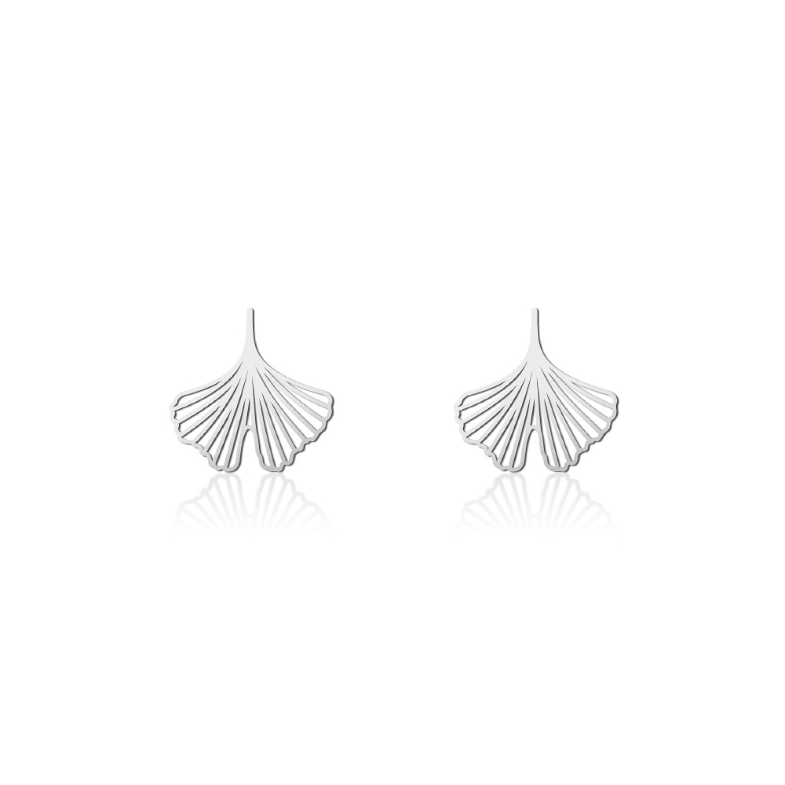 Ginkgo Earrings XS (Silver) - Moorigin