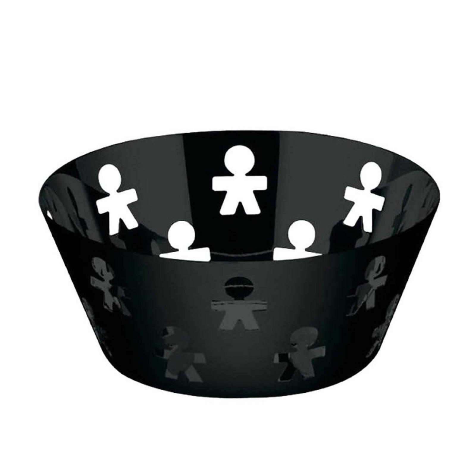 Girotondo Round Basket (Black) - Alessi