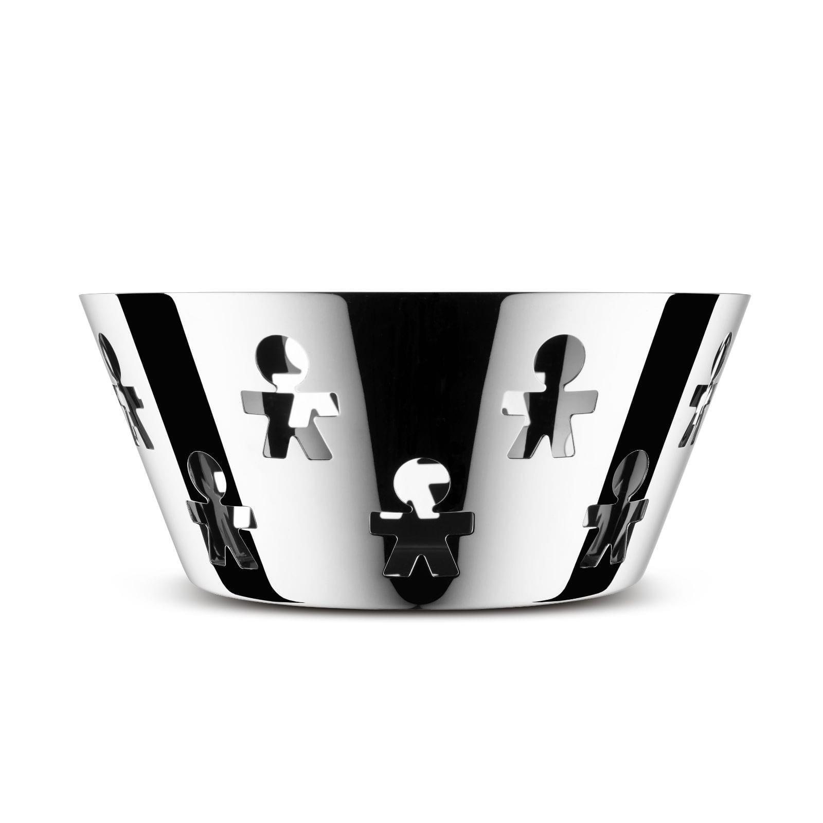 Girotondo Round Basket (Stainless Steel) - Alessi