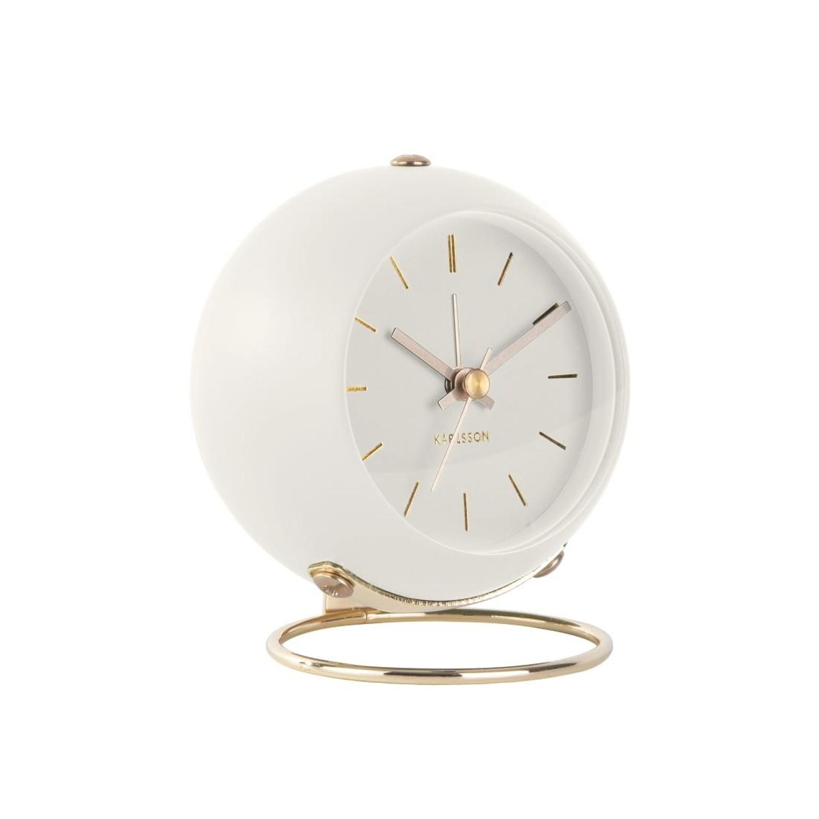 Globe Alarm Clock (White) - Karlsson