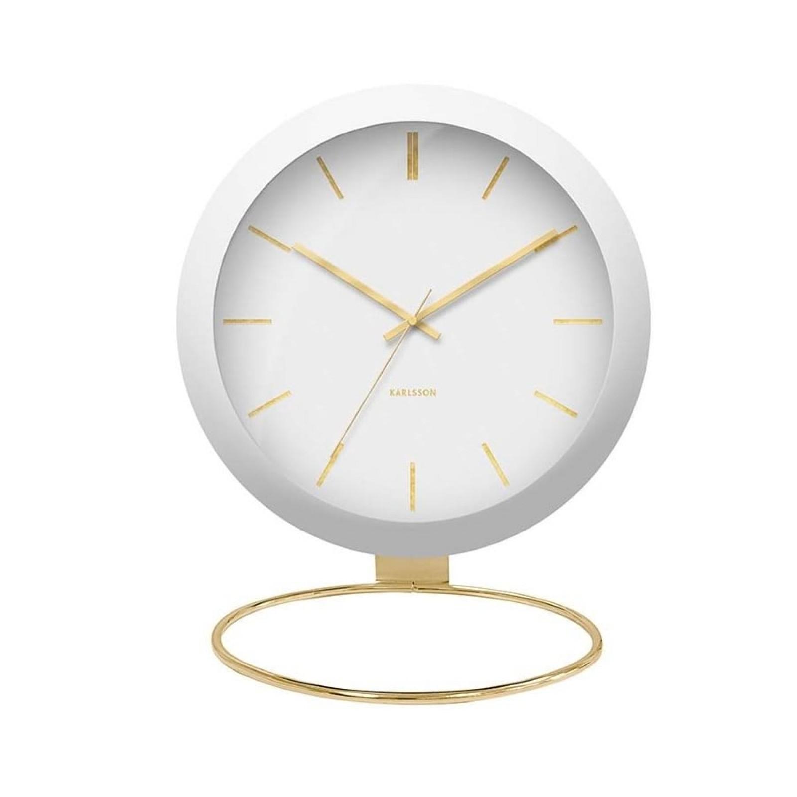 Globe Table Clock (White) - Karlsson