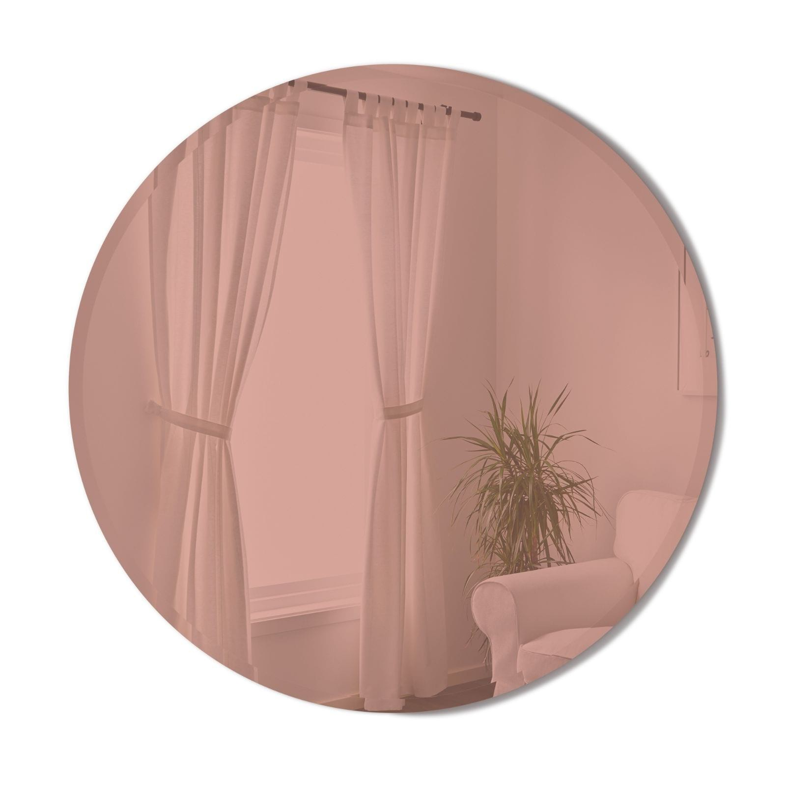 Hub Beveled Mirror 92cm (Copper) - Umbra