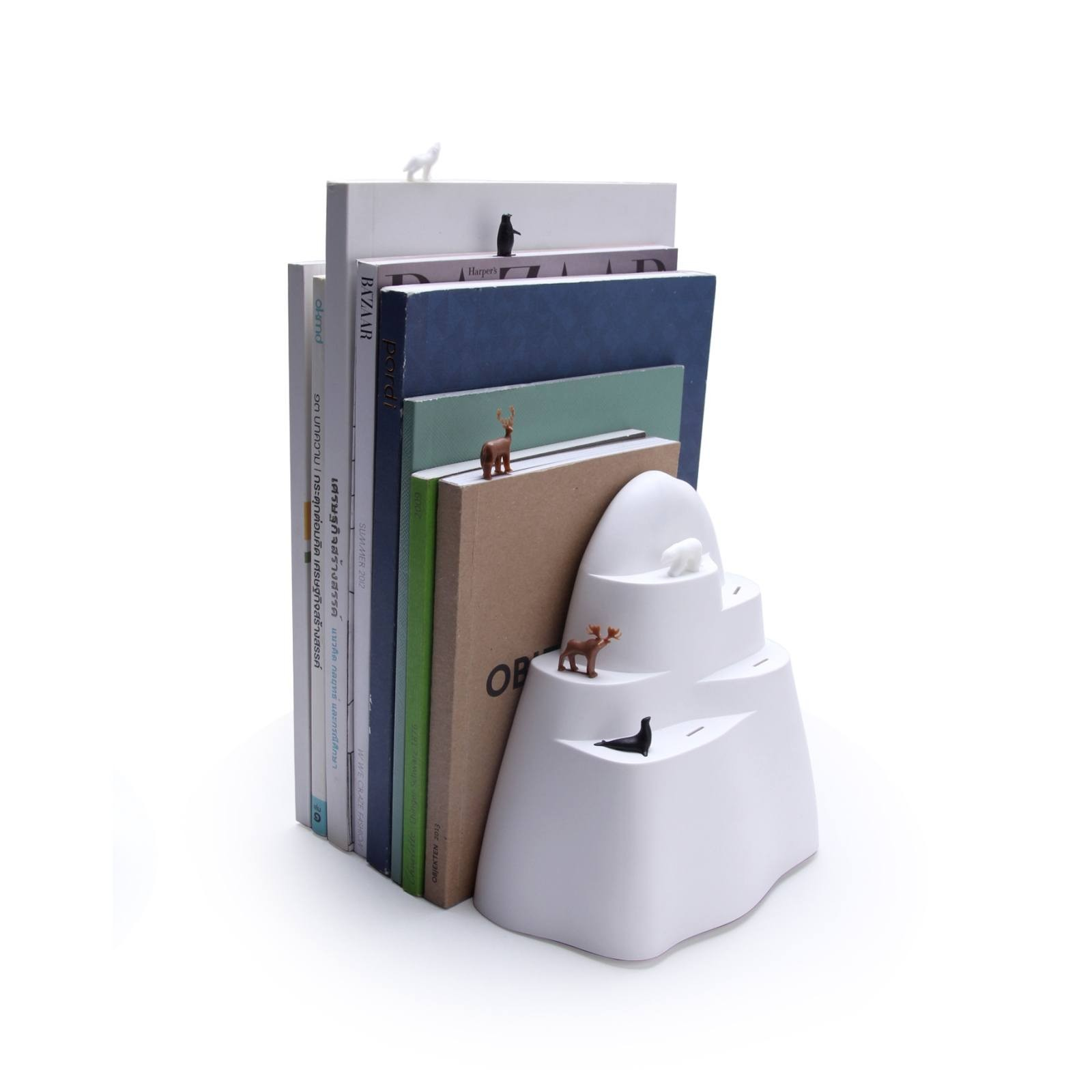 Book Iceberg Bookend & Bookmarks Set - Qualy