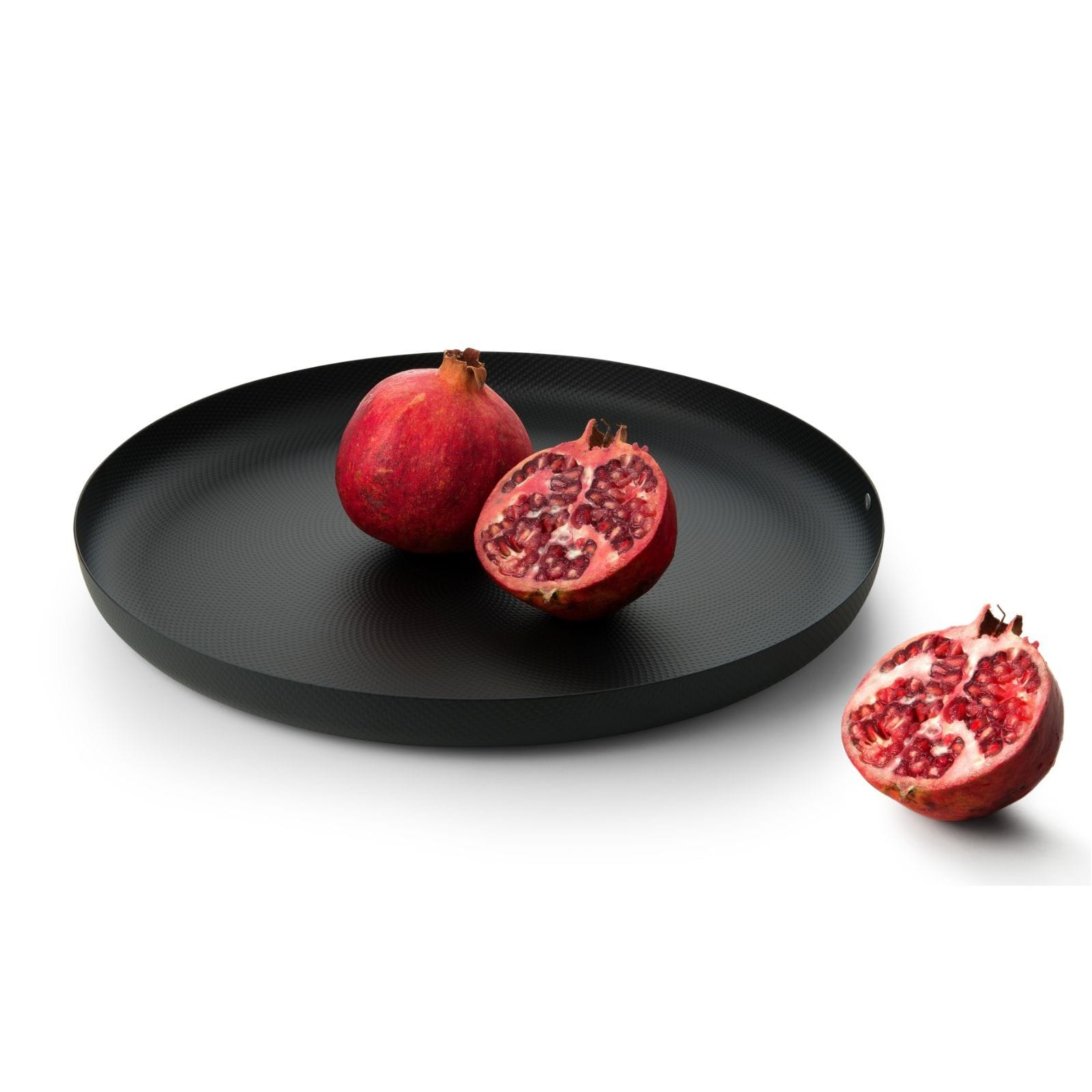 Round Tray with Relief Decoration (Black) - Alessi