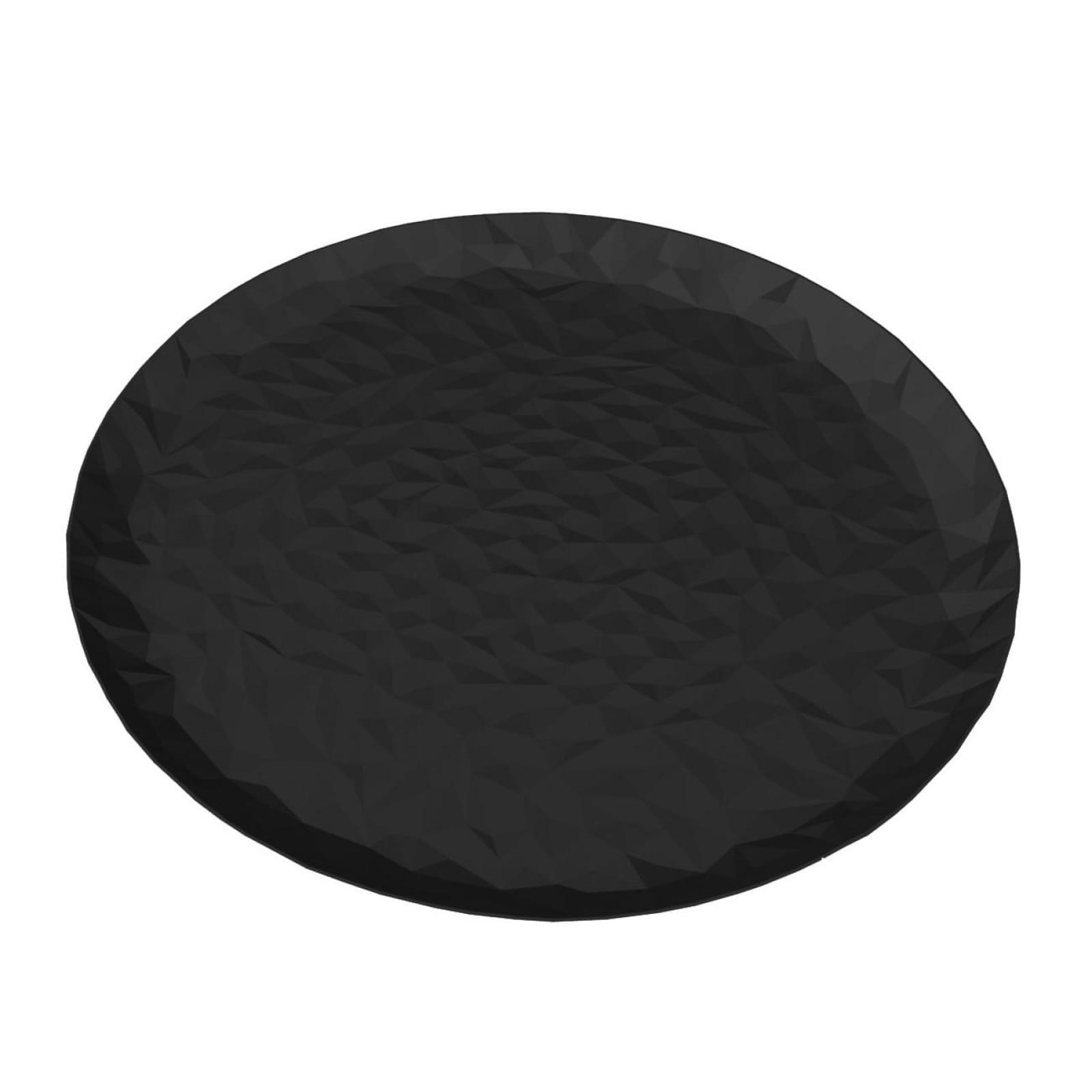 Joy n. 3 Round Tray (Steel / Black) - Alessi
