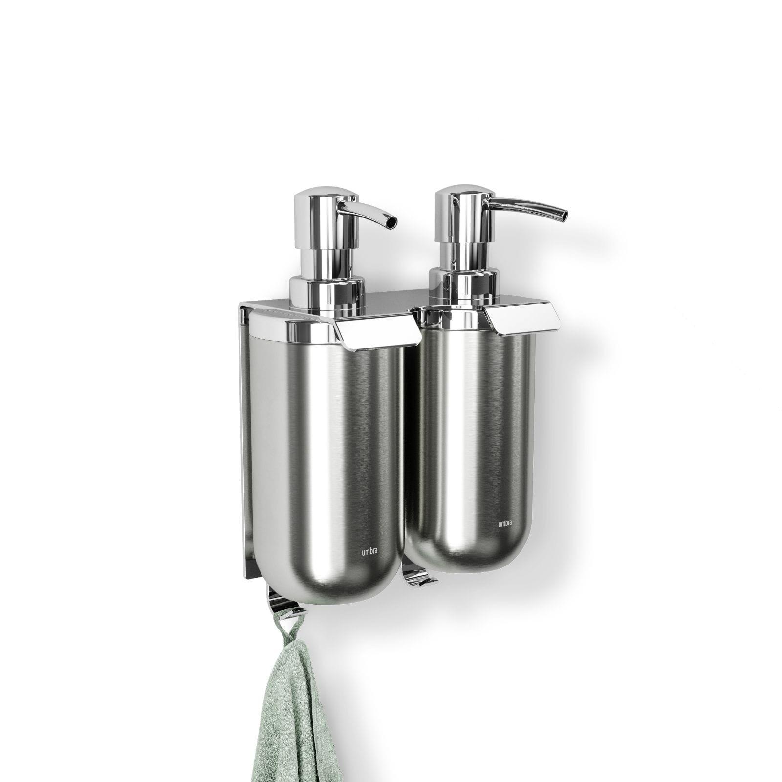 Junip Wall Mounted Soap Pump Set of 2 (Stainless Steel) - Umbra