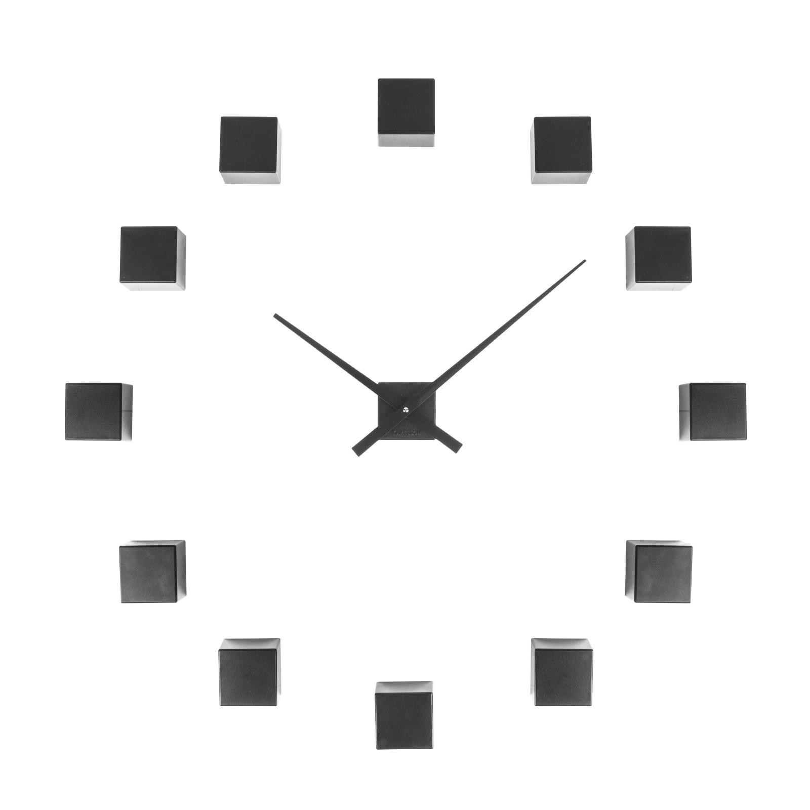 Do It Yourself Cubic Wall Clock (Black) - Karlsson