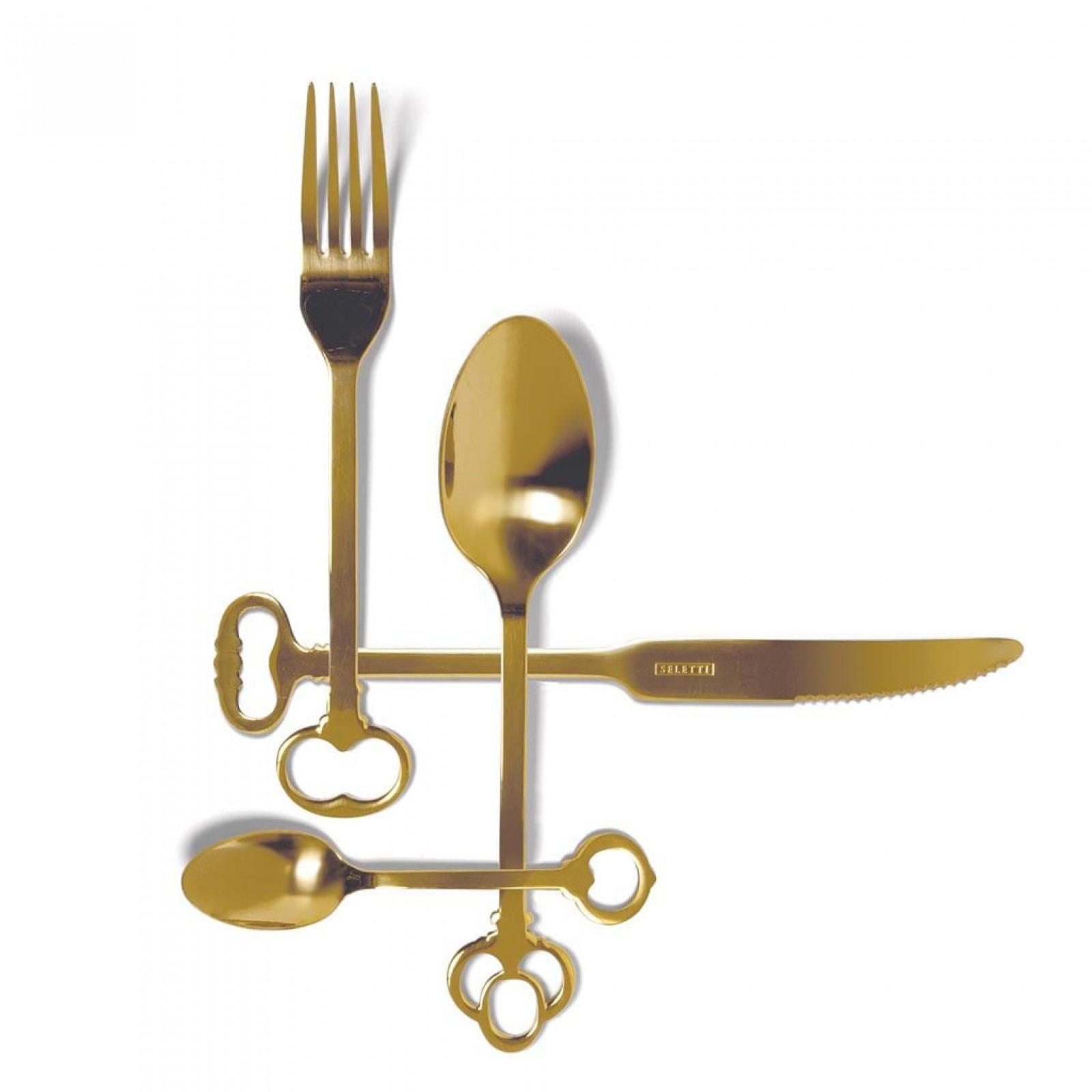 Keytlery Gold Cutlery Set 24 pieces - Seletti
