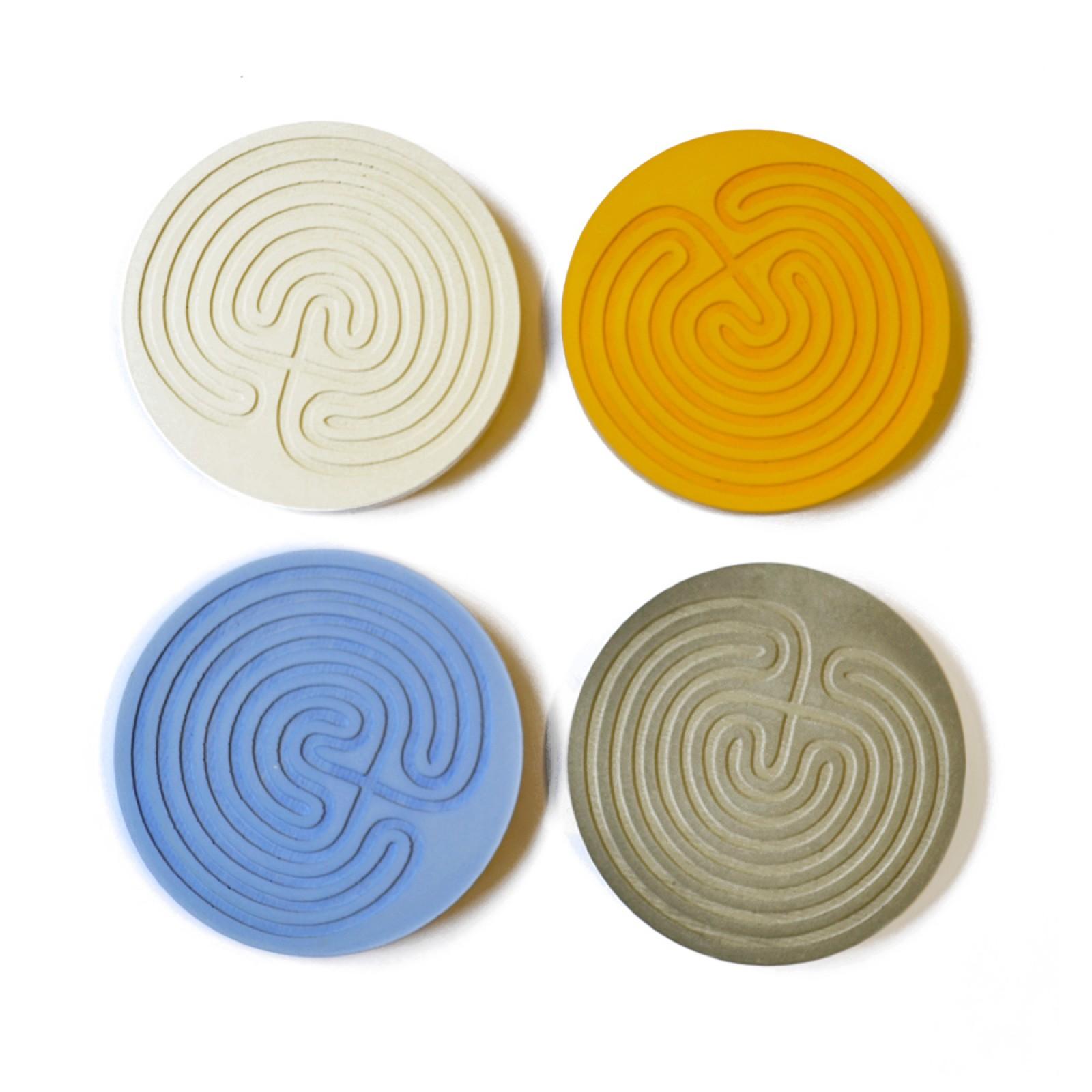 Knossos Round Concrete Coasters (set of 4) - A Future Perfect