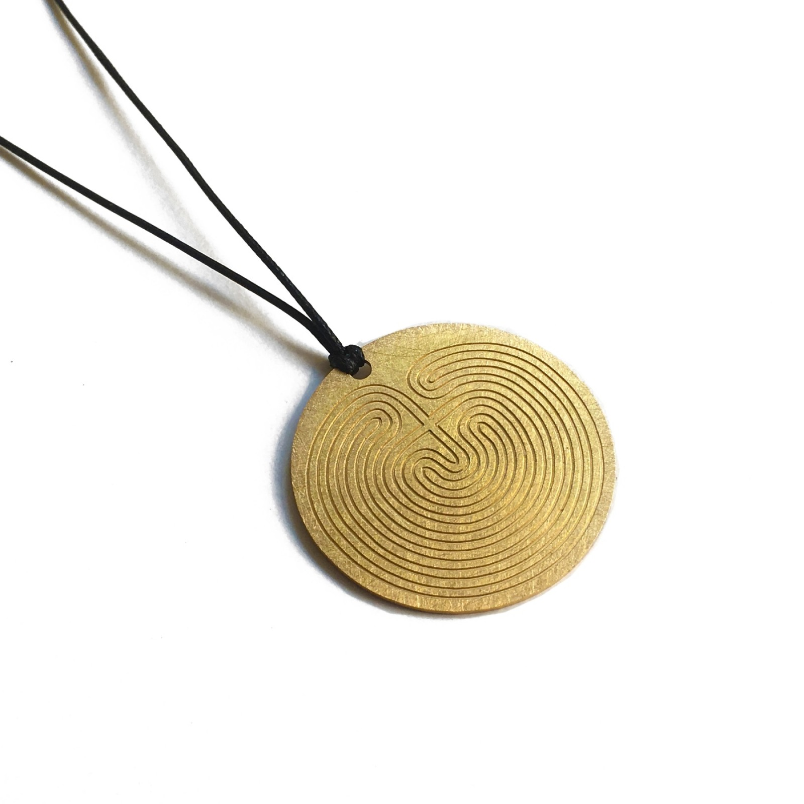 Knossos Labyrinth Round Pendant - A Future Perfect