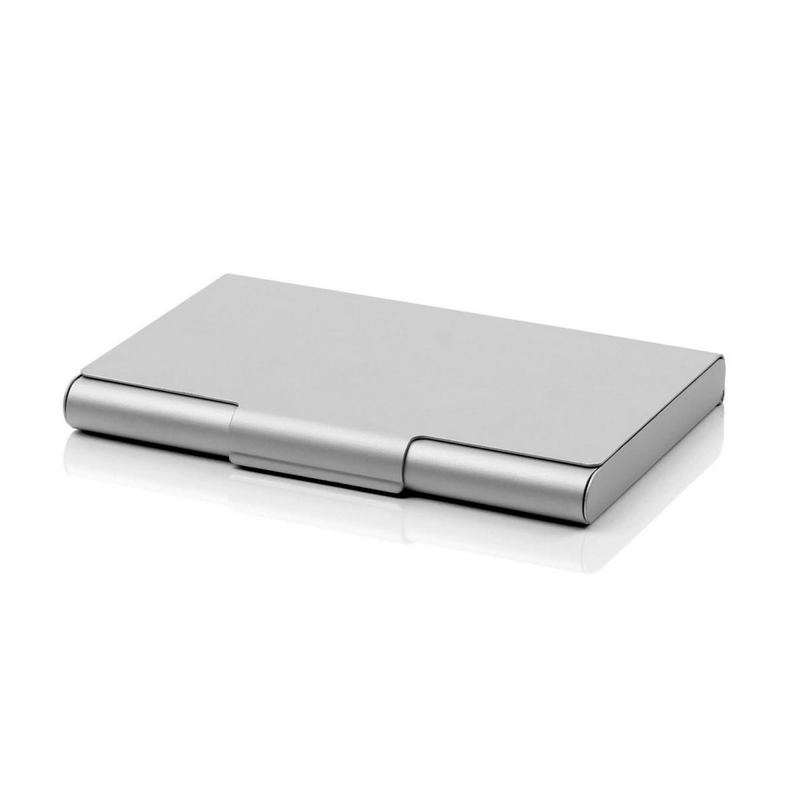 Card Box 20 Business Card Case (Silver) - LEXON