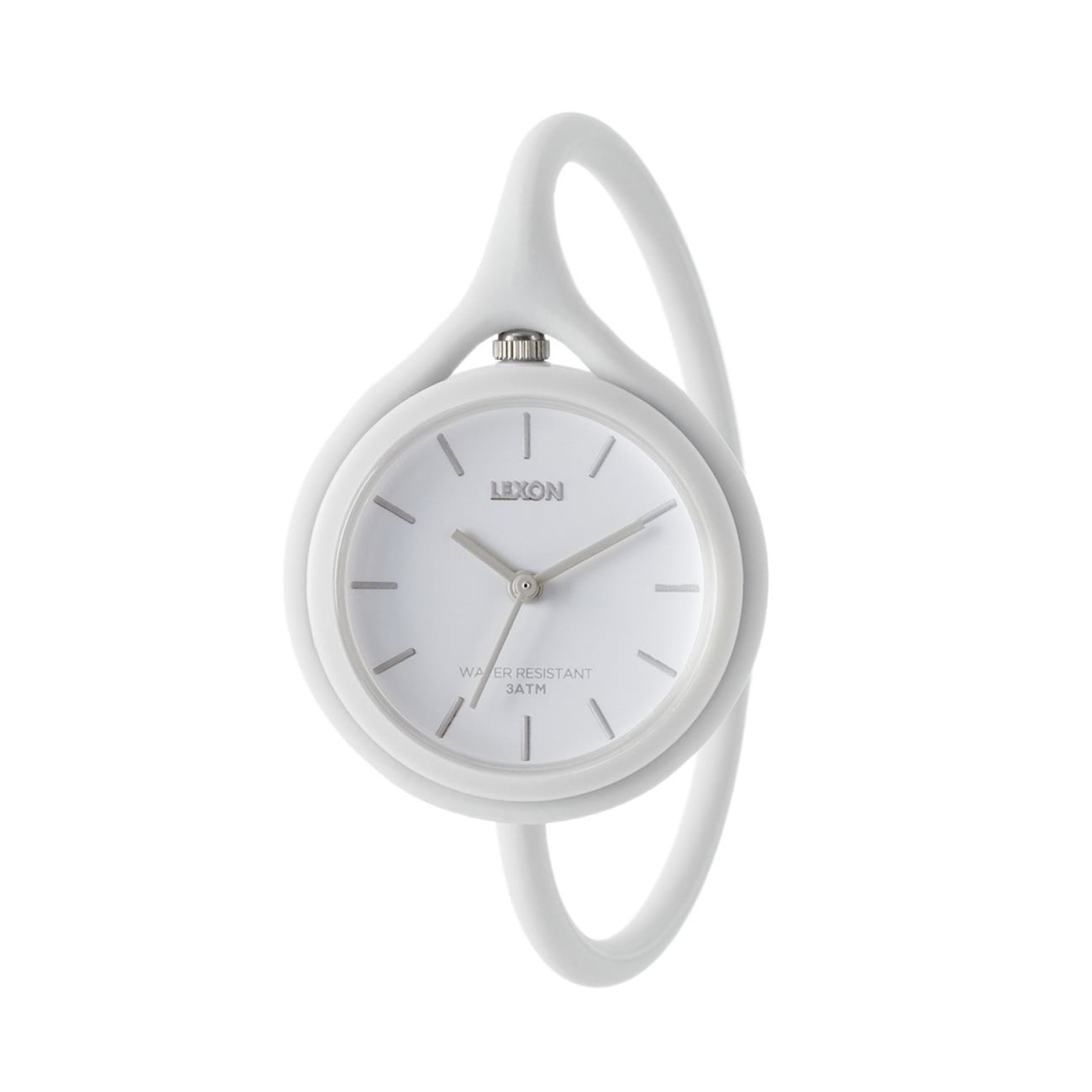 Take Time 3 in 1 Wrist Watch (White) - LEXON