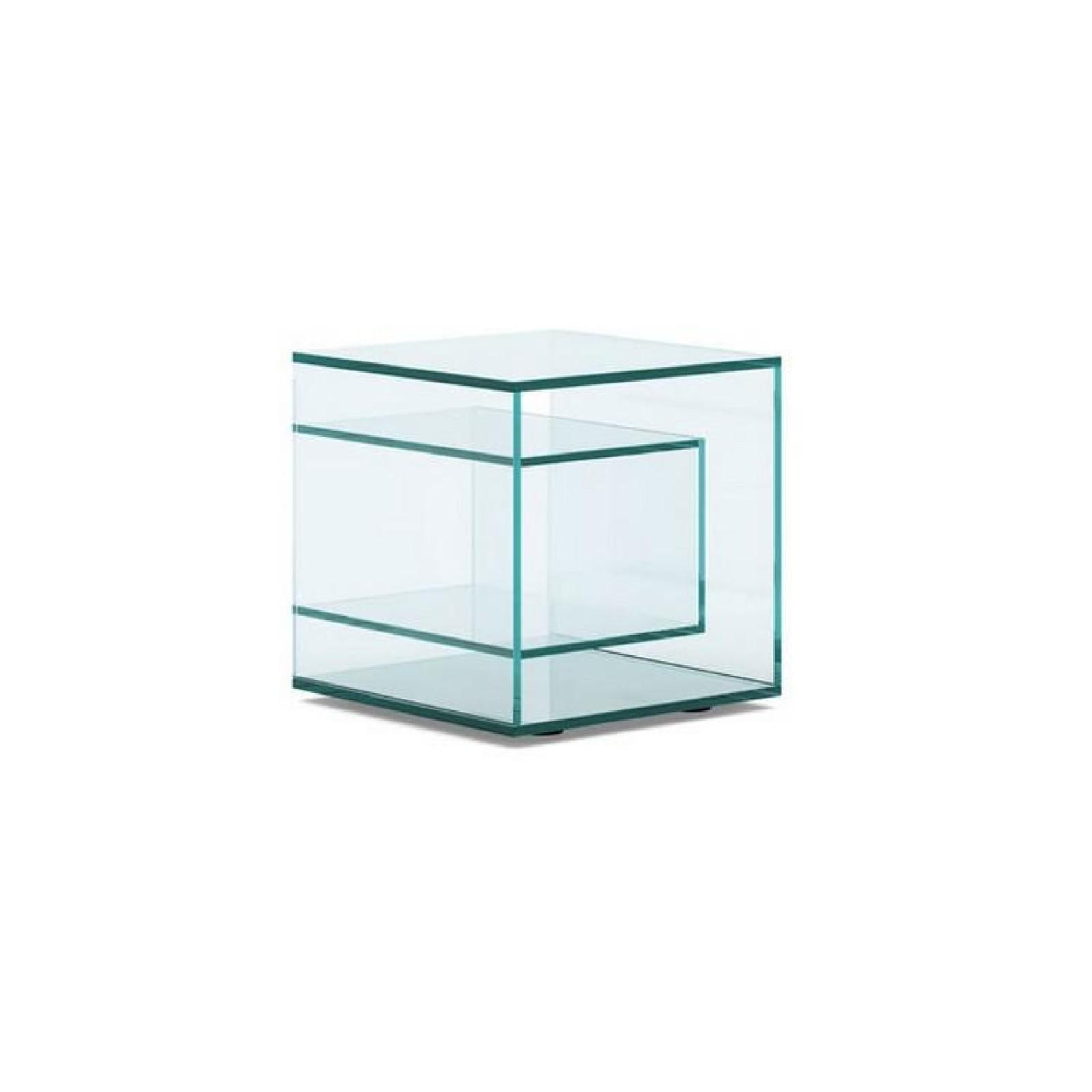Liber E Glass Side Table - Tonelli Design