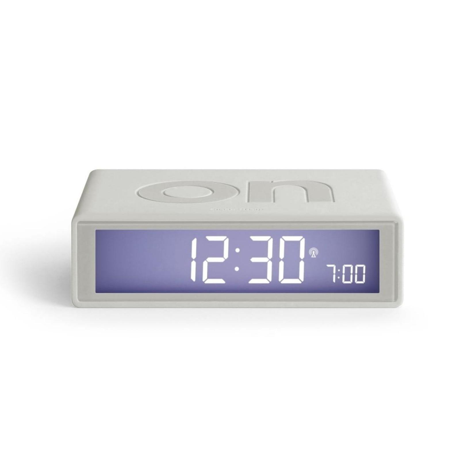 Flip + LCD Alarm Clock (White) - LEXON