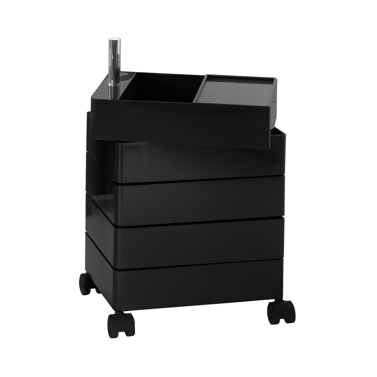 360° Container Drawer Unit 5 Compartments (Black) - Magis