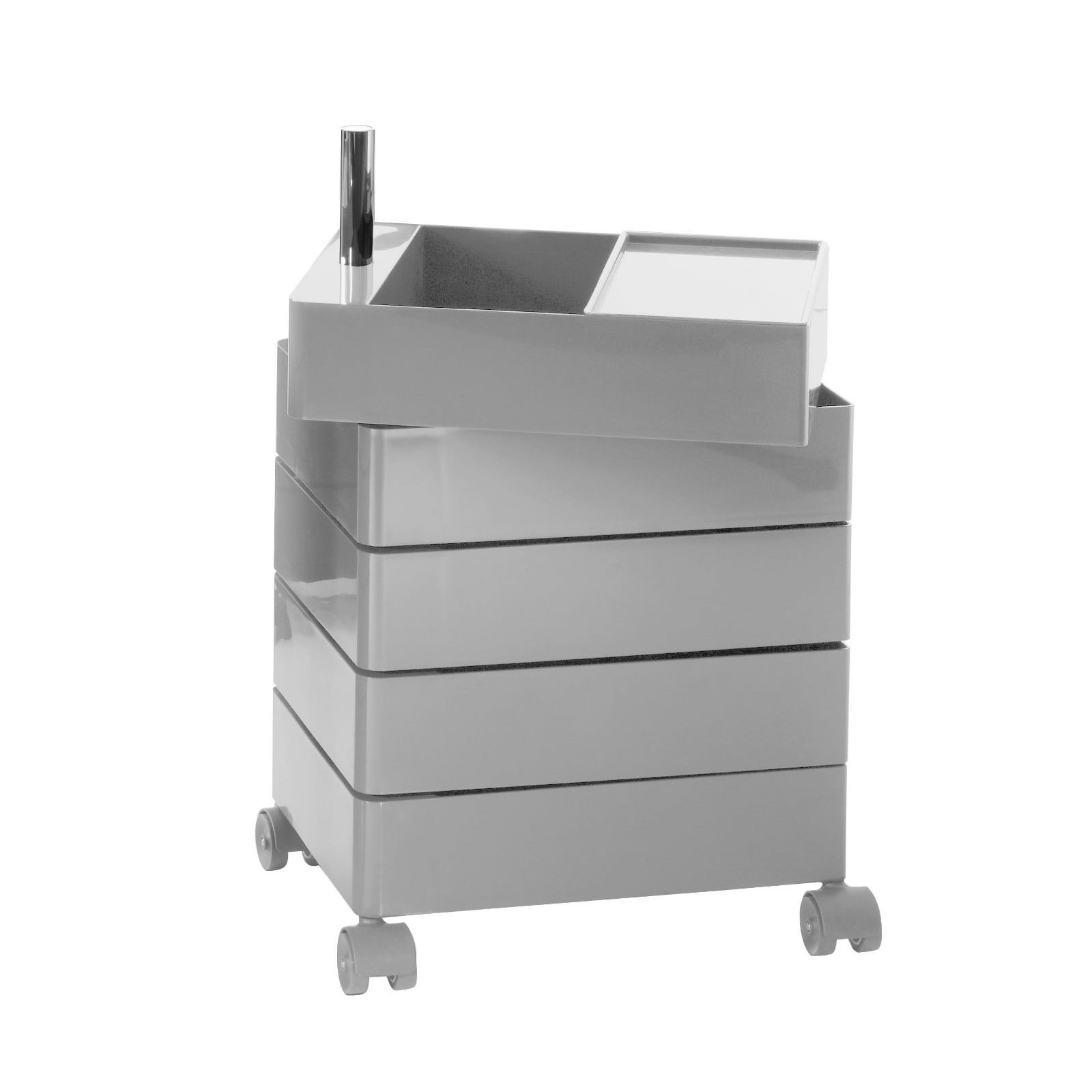 360° Container Drawer Unit 5 Compartments (Light Grey) - Magis