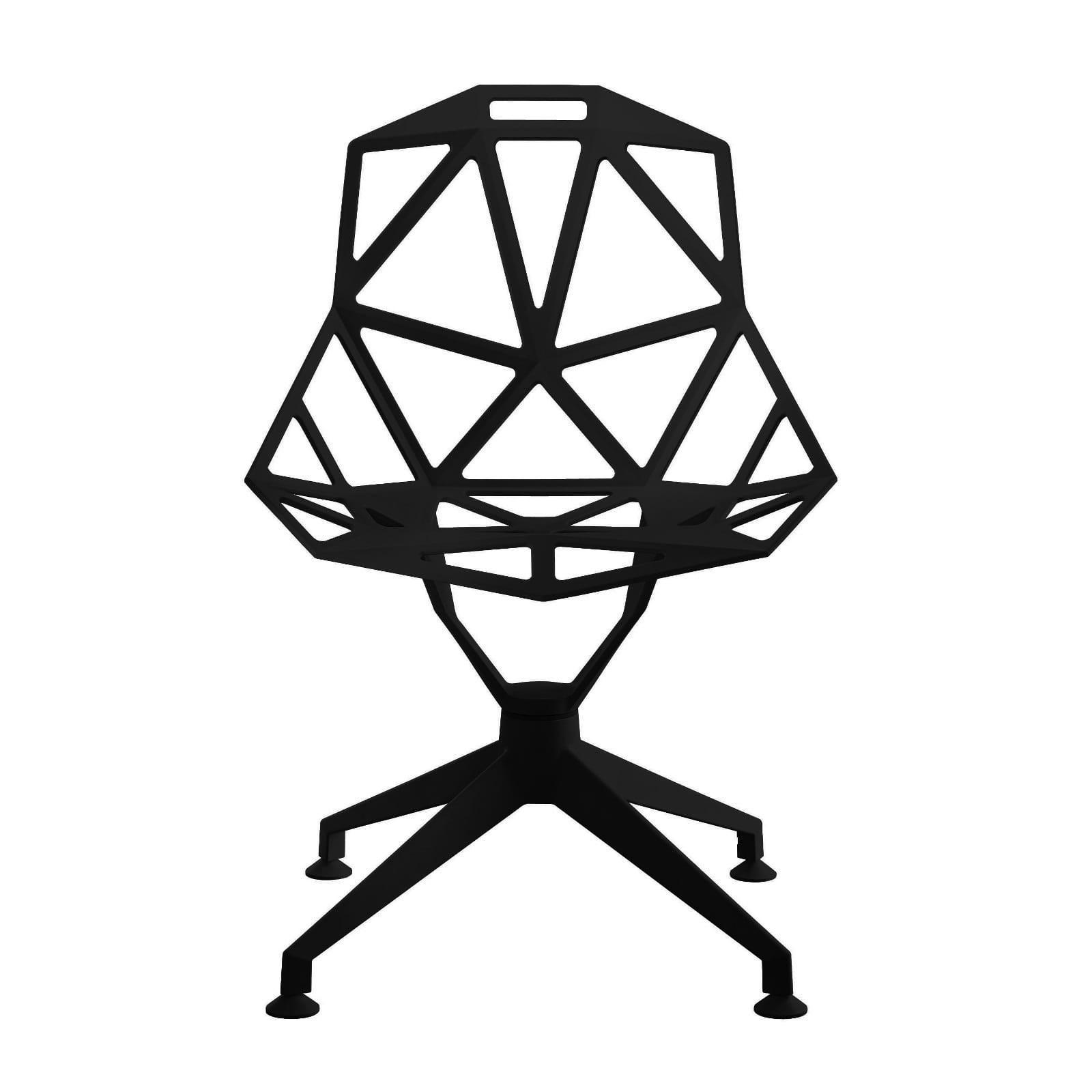 Chair One 4-Star Swivel Chair (Black) - Magis