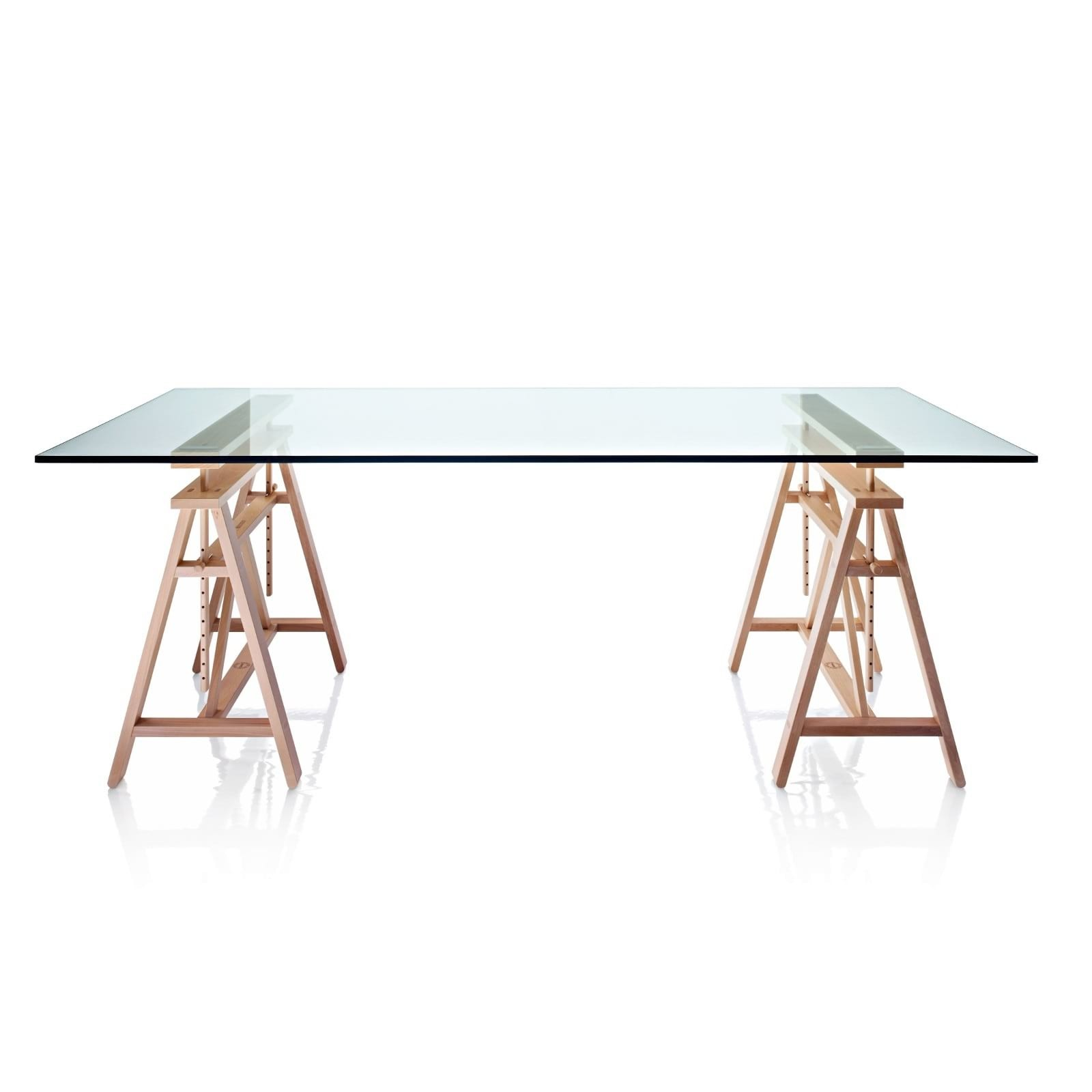 Teatro Rectangular Table (Solid Beech / Tempered Glass) - Magis