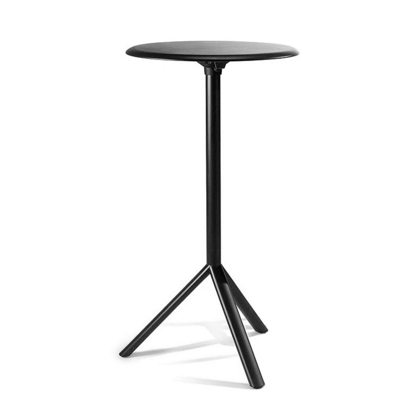 MIURA High Round Table - PLANK-Black-Diameter 60 cm Metal